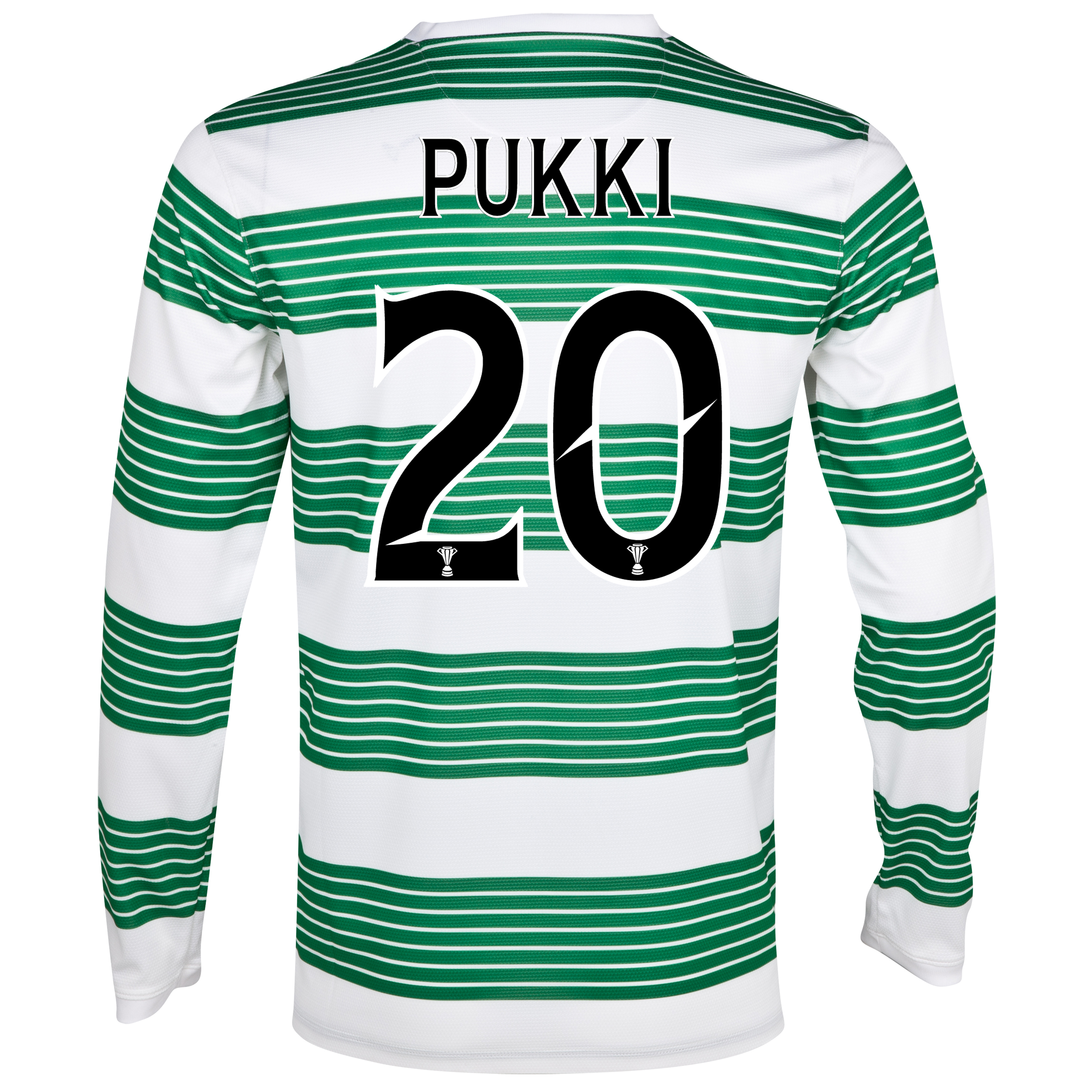 Celtic Home Shirt 2013/15 - L/S- With Sponsor with Pukki 20 printing
