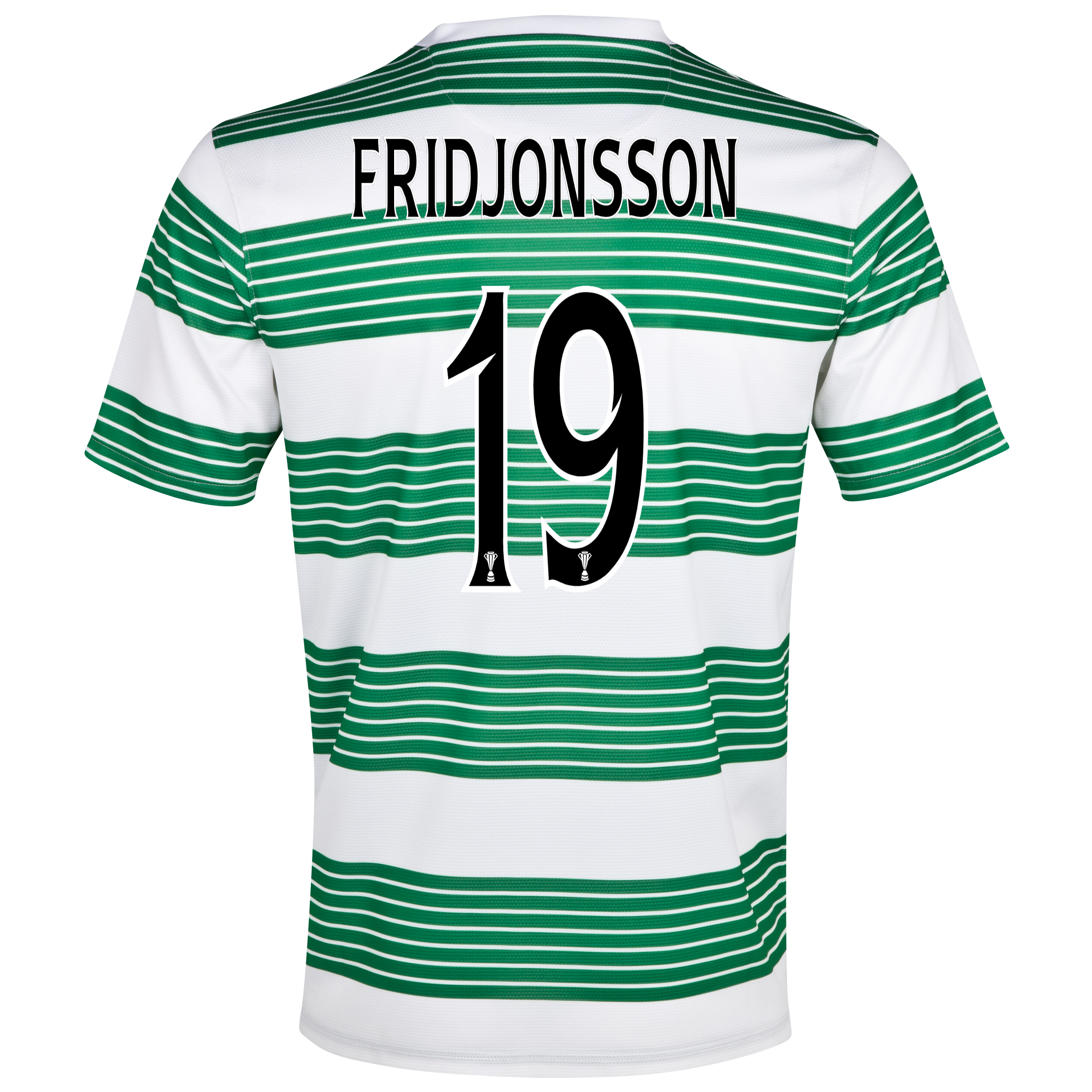 Celtic Home Shirt 2013/15 - With Sponsor with Fridjonsson 19 printing