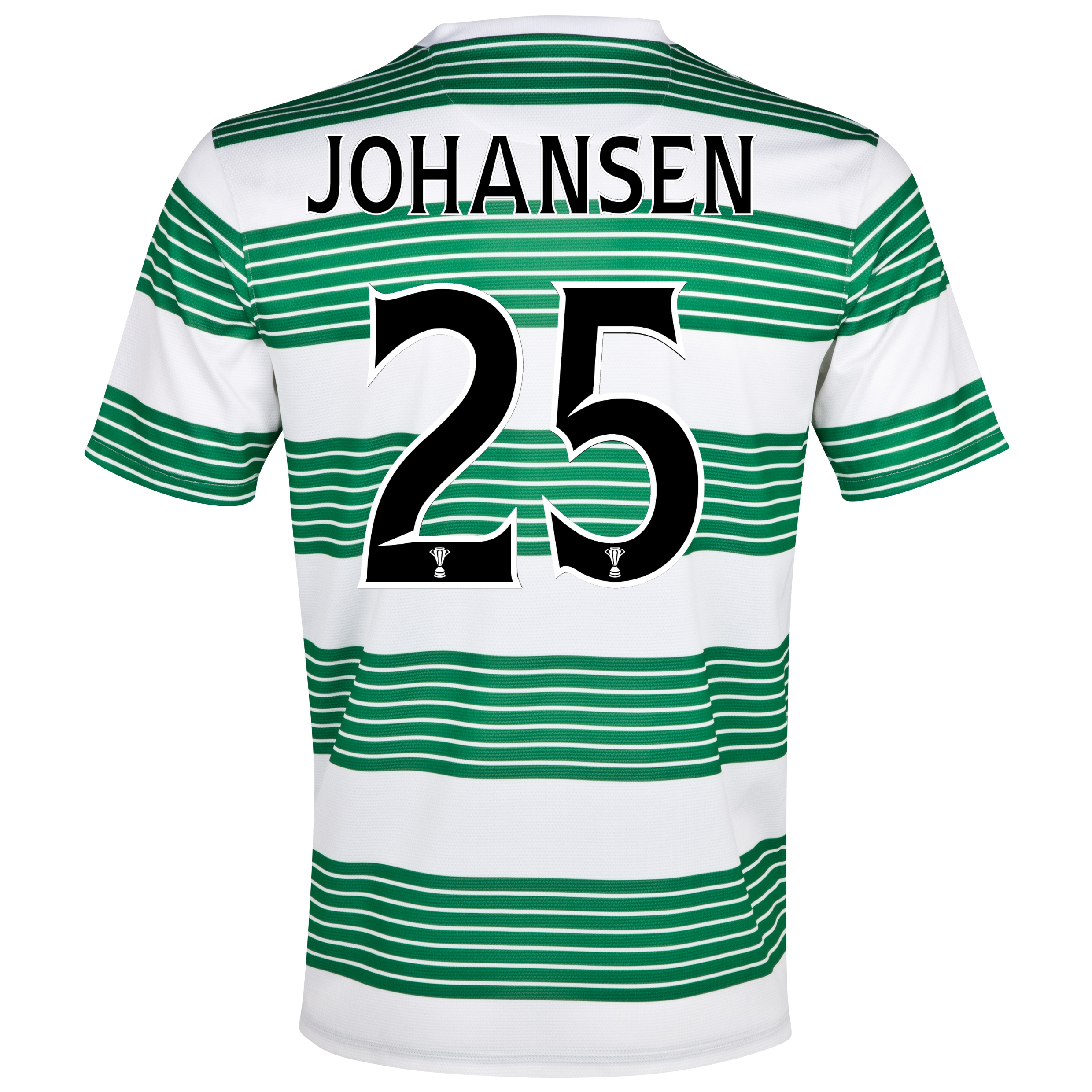 Celtic Home Shirt 2013/15- Unsponsored with Johansen 25 printing