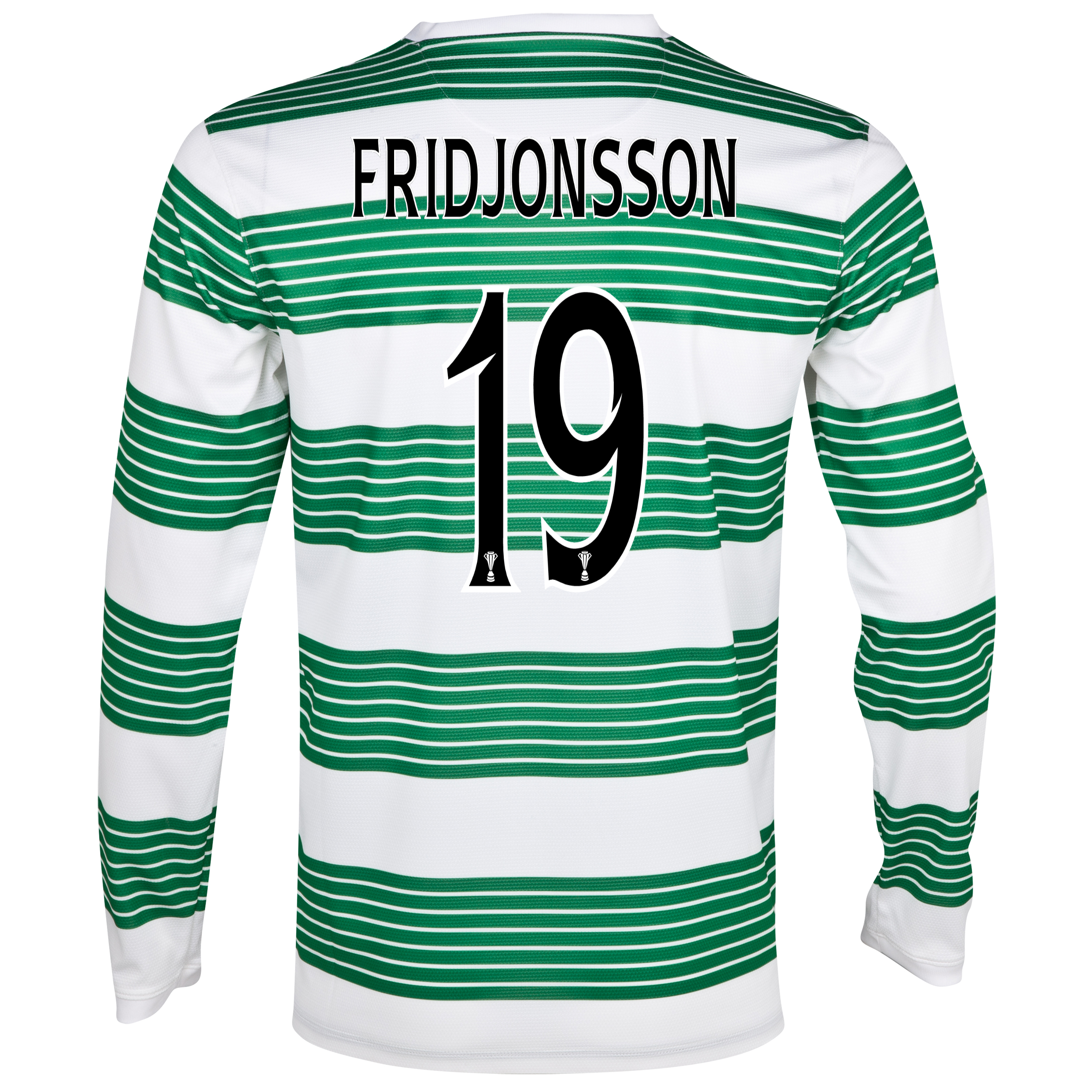 Celtic Home Shirt 2013/15 - L/S- Unsponsored with Fridjonsson 19 printing