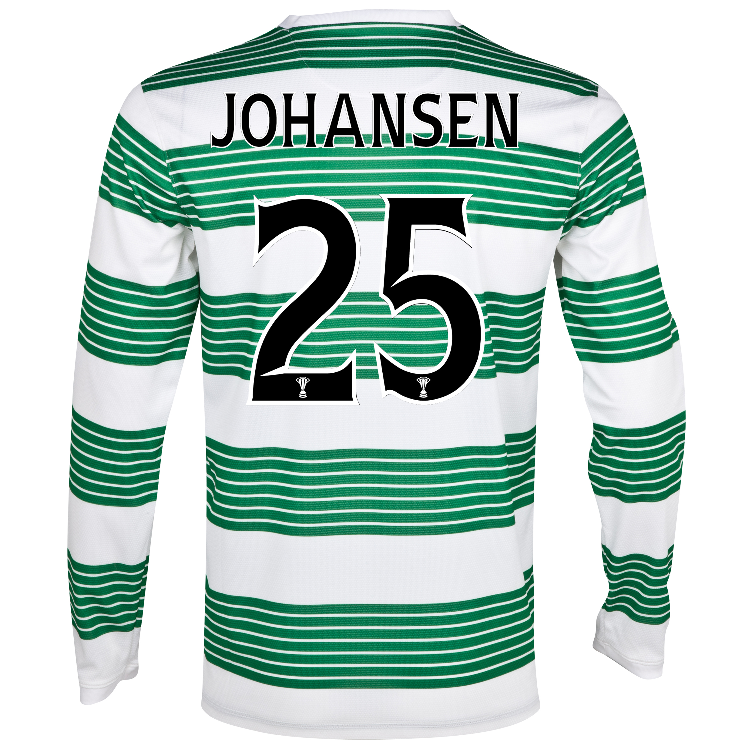 Celtic Home Shirt 2013/15 - L/S- Unsponsored with Johansen 25 printing