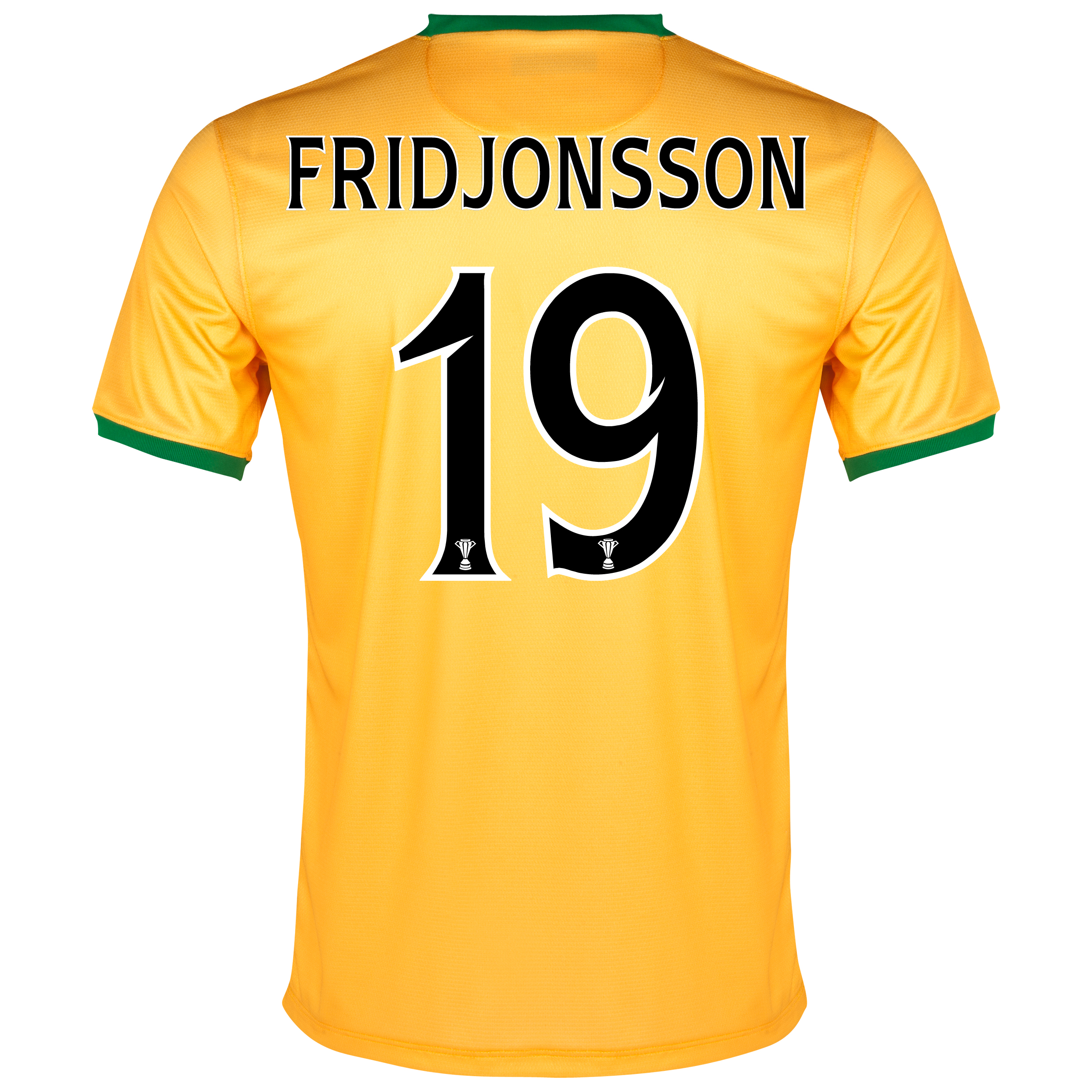 Celtic Away Shirt 2013/14 - With Sponsor with Fridjonsson 19 printing