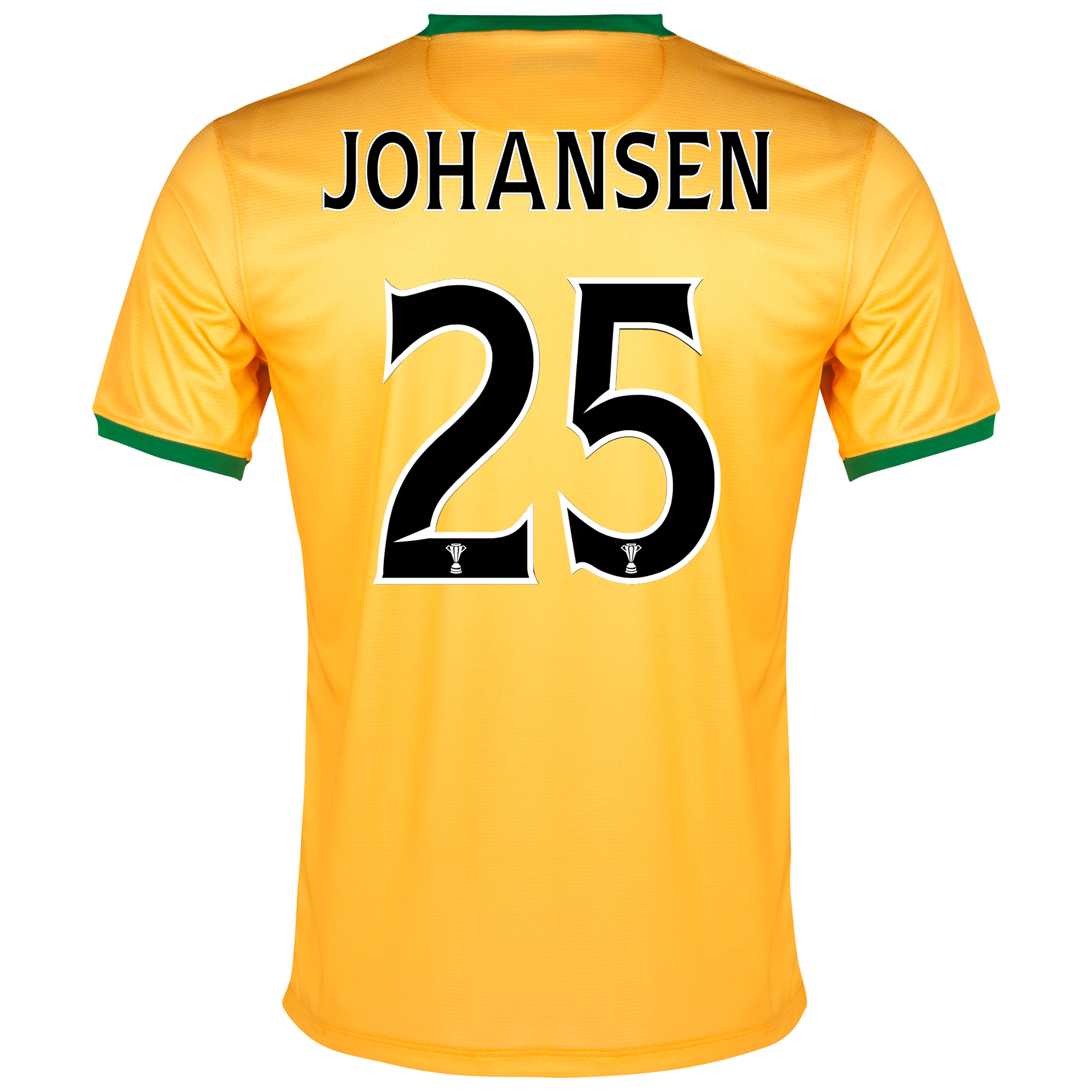 Celtic Away Shirt 2013/14- Unsponsored with Johansen 25 printing