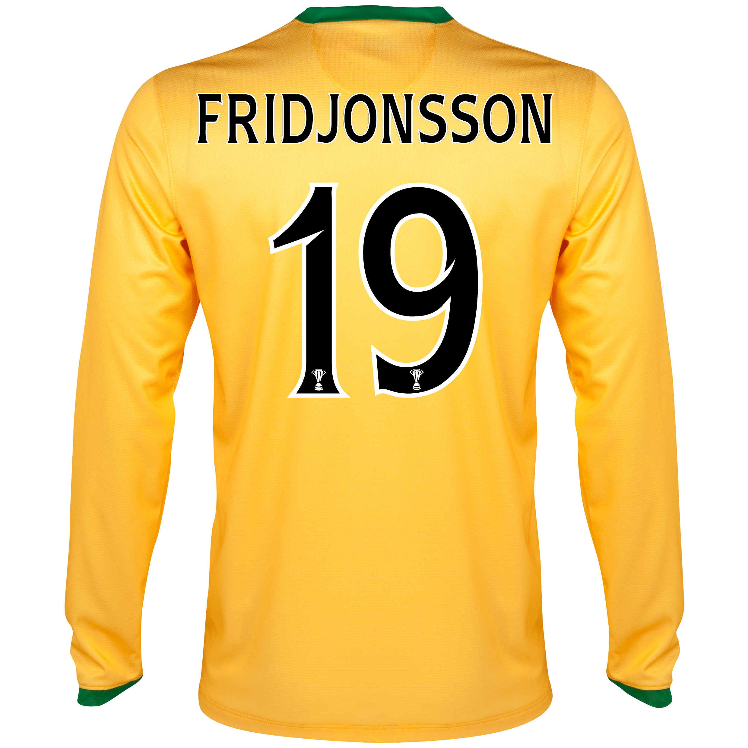 Celtic Away Shirt 2013/14 - L/S- Unsponsored with Fridjonsson 19 printing