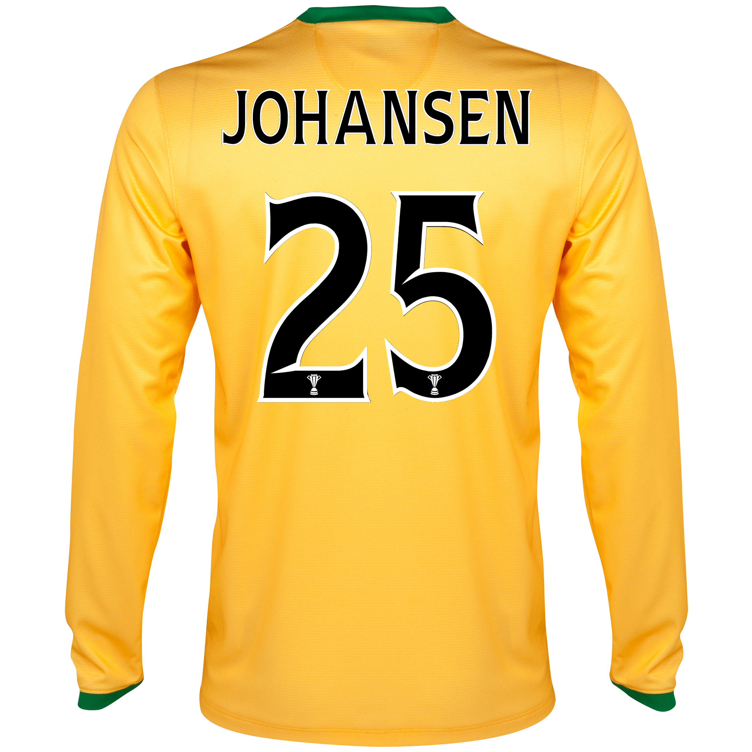 Celtic Away Shirt 2013/14 - L/S- Unsponsored with Johansen 25 printing