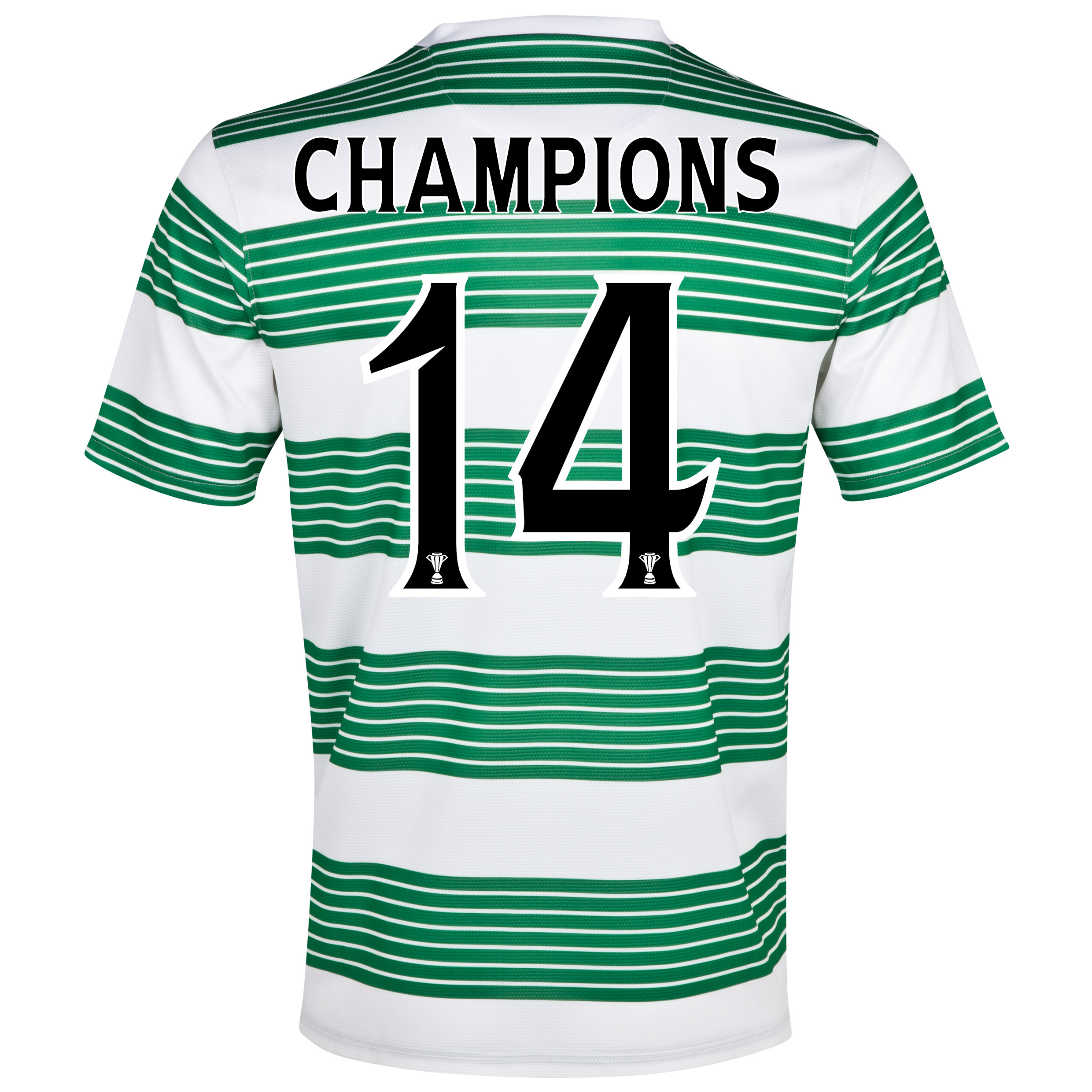 Celtic Home Shirt 2013/15- Unsponsored with Champions 14 printing
