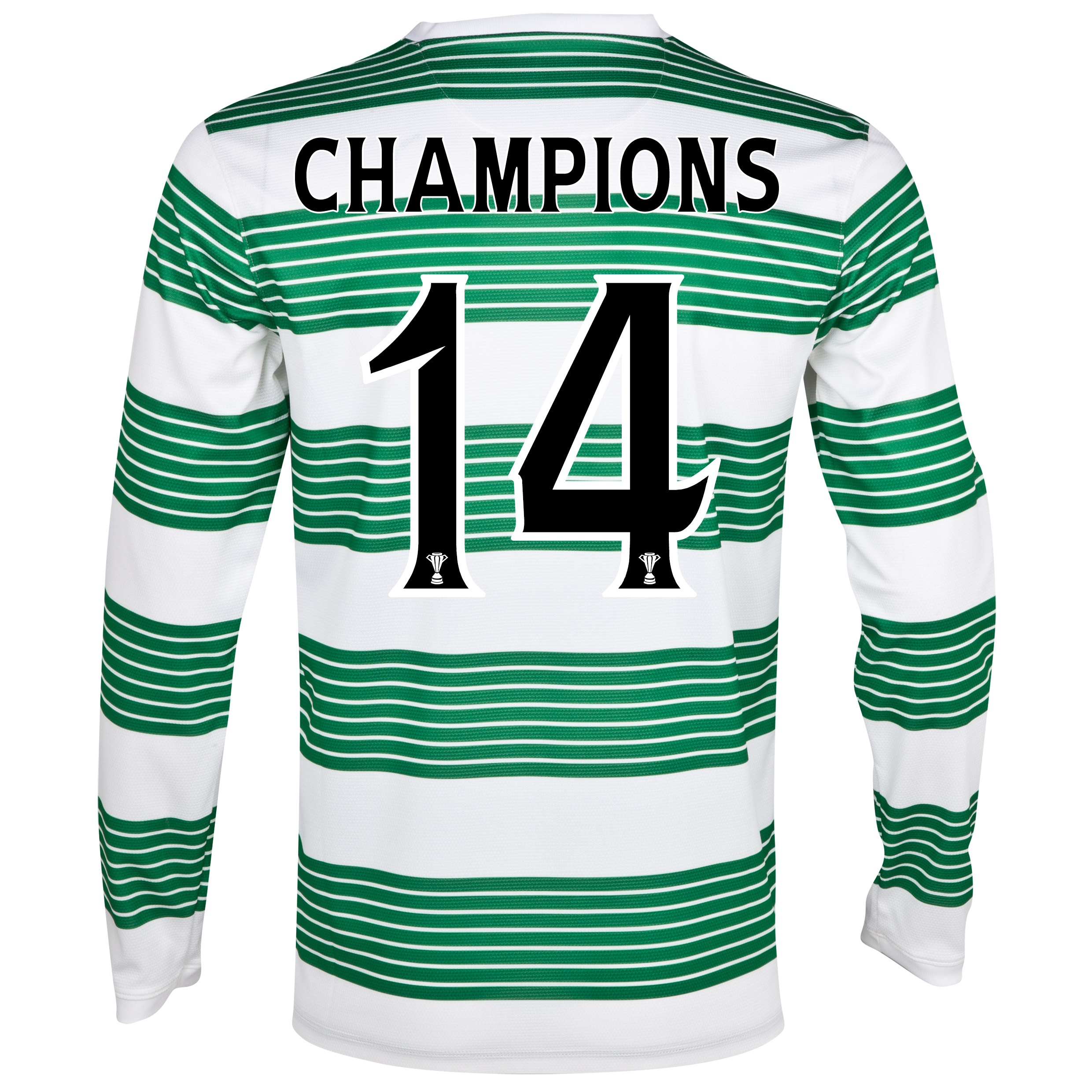 Celtic Home Shirt 2013/15 - L/S- Unsponsored with Champions 14 printing