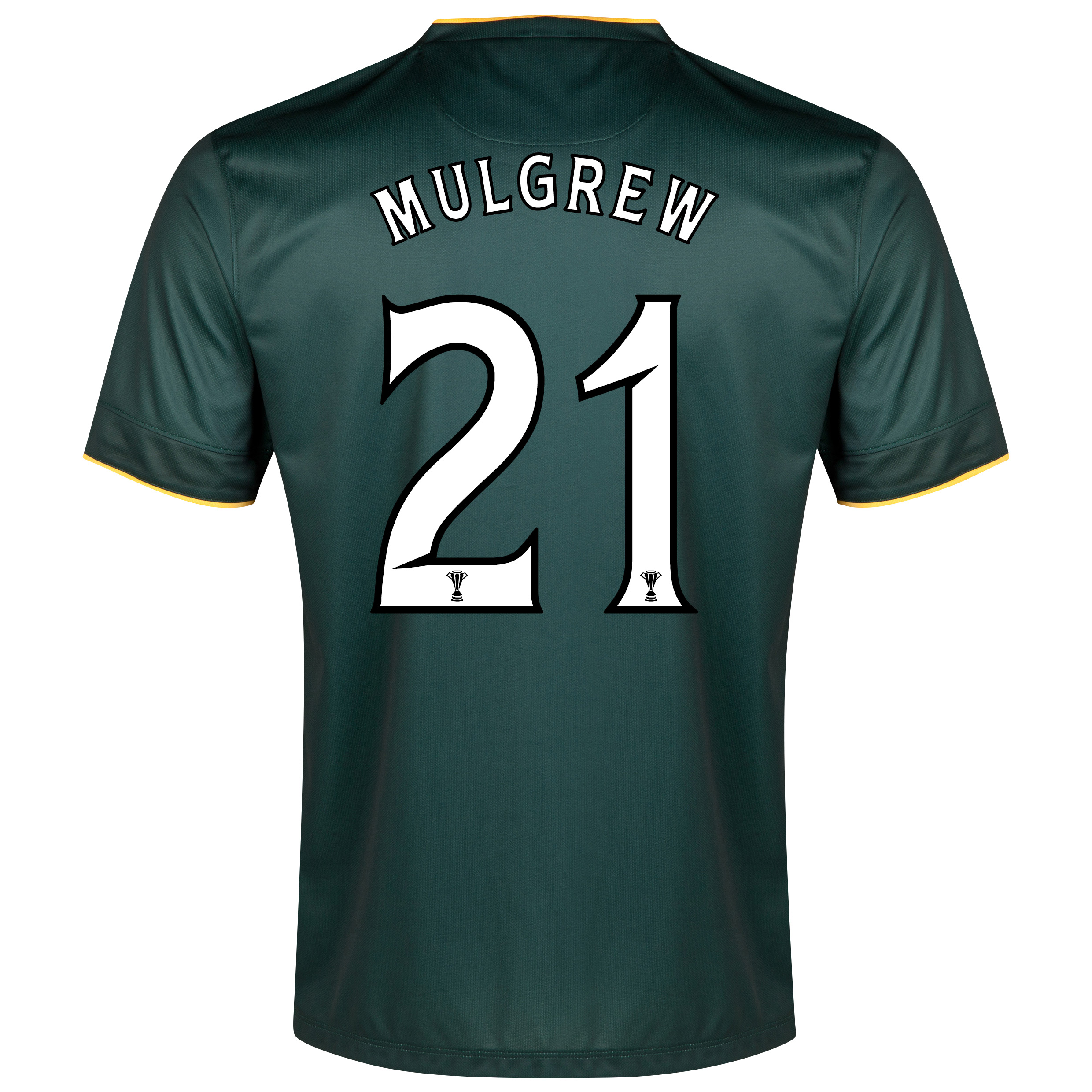 Celtic Away Shirt 2014/15 - Unsponsored Green with Mulgrew 21 printing