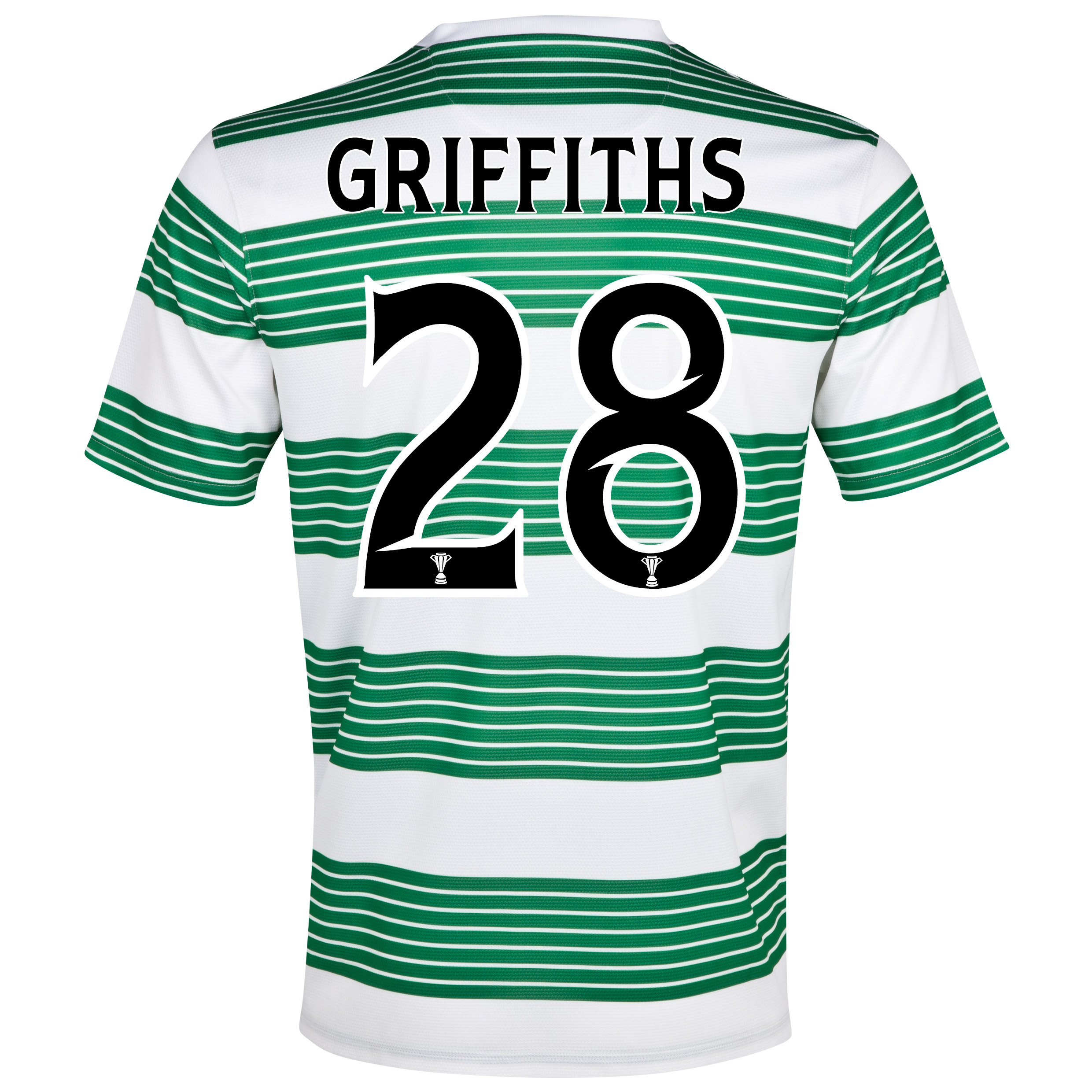 Celtic Home Shirt 2013/15- Unsponsored with Griffiths 28 printing