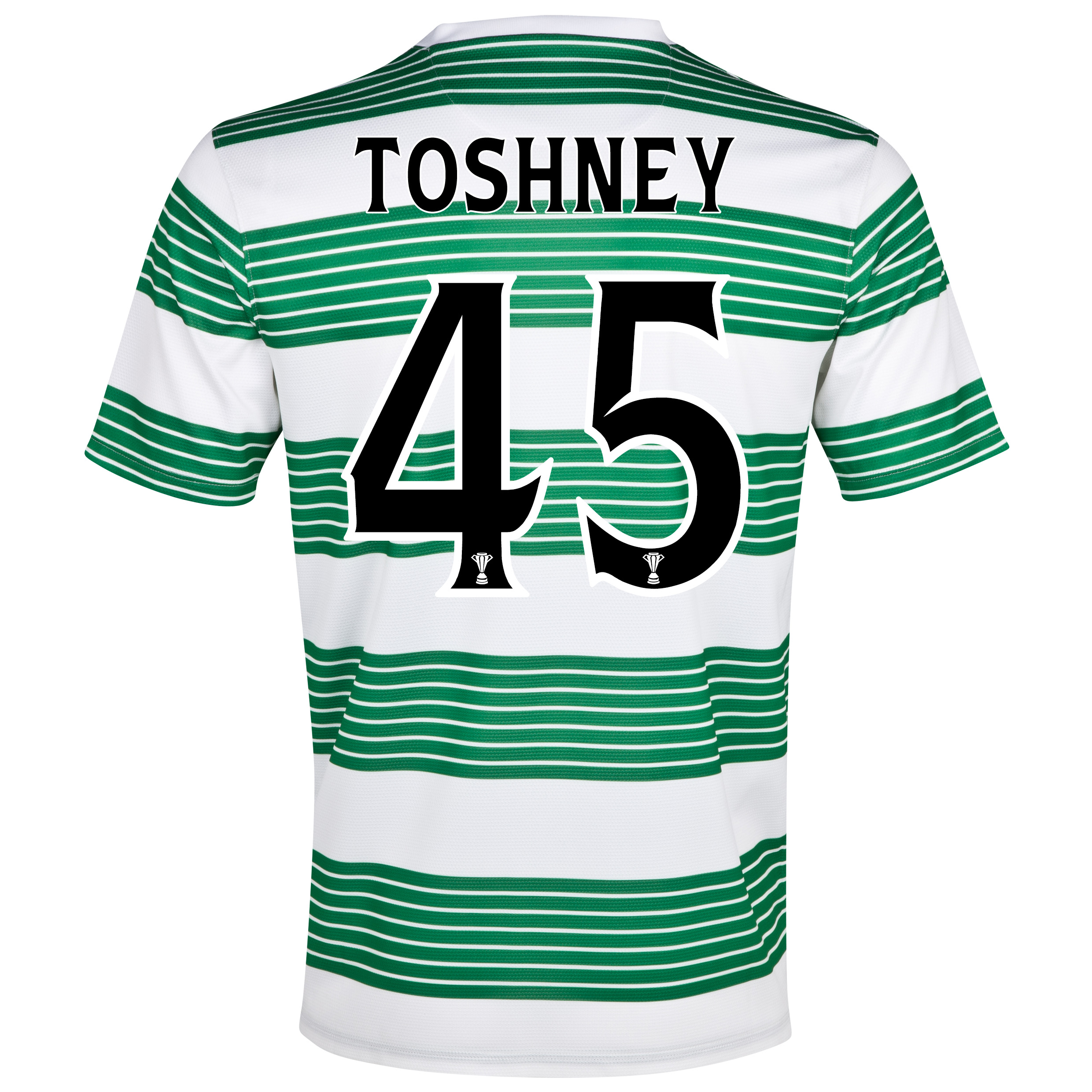 Celtic Home Shirt 2013/15- Unsponsored with Toshney 45 printing