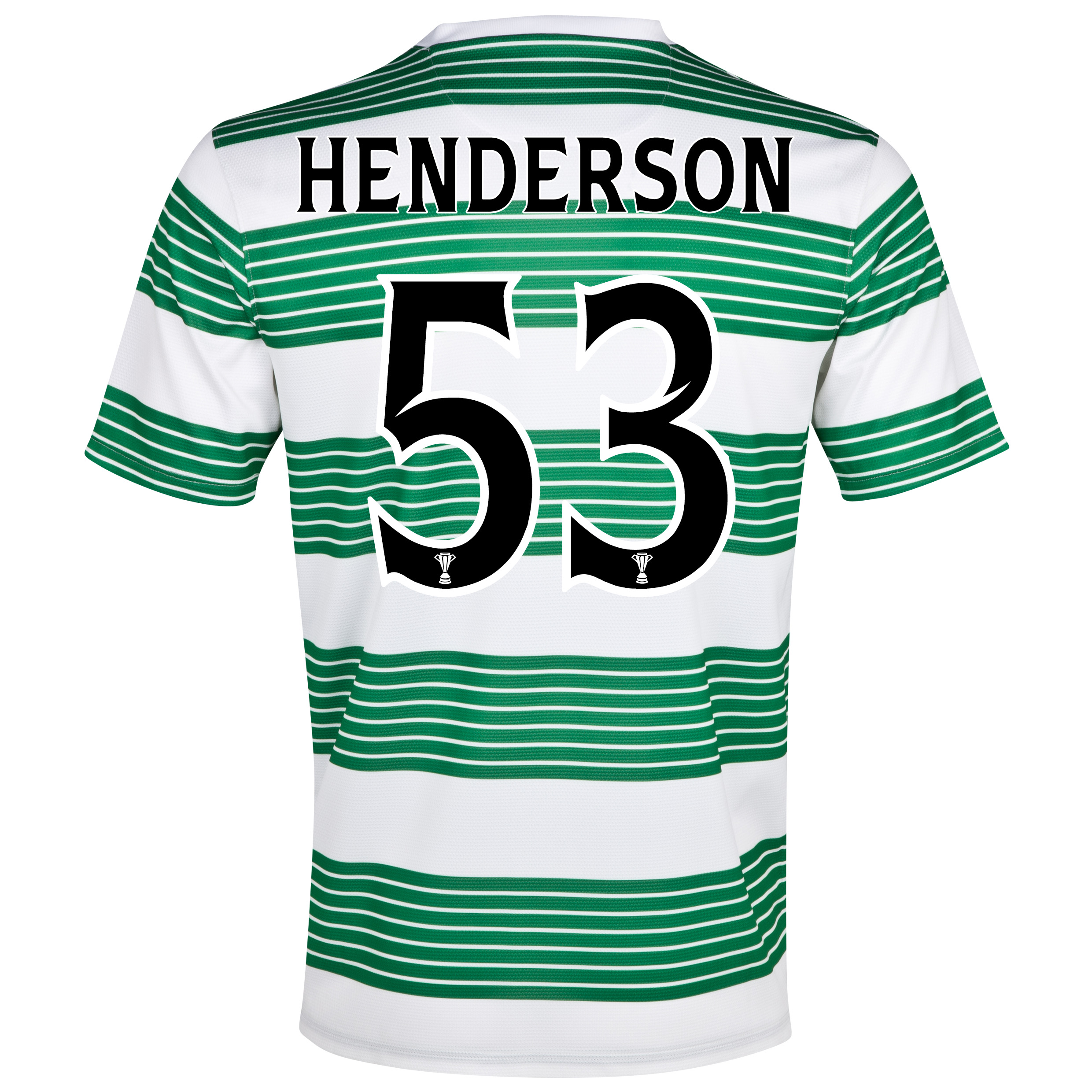Celtic Home Shirt 2013/15- Unsponsored with Henderson 53 printing