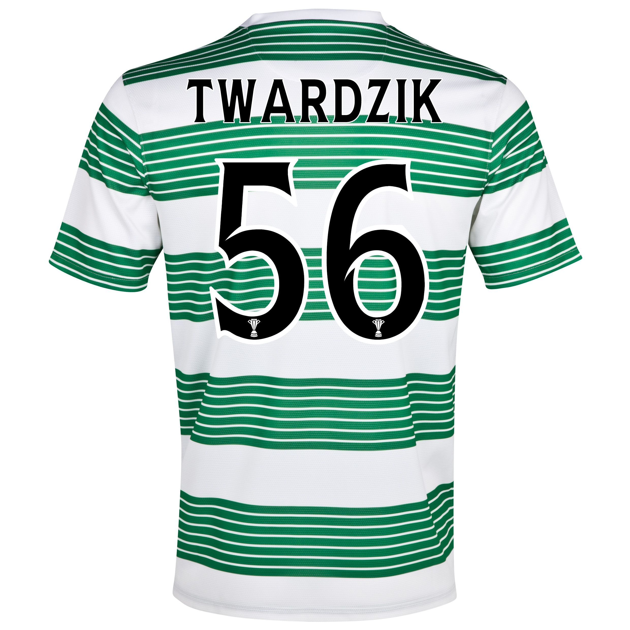 Celtic Home Shirt 2013/15- Unsponsored with Twardzik 56 printing
