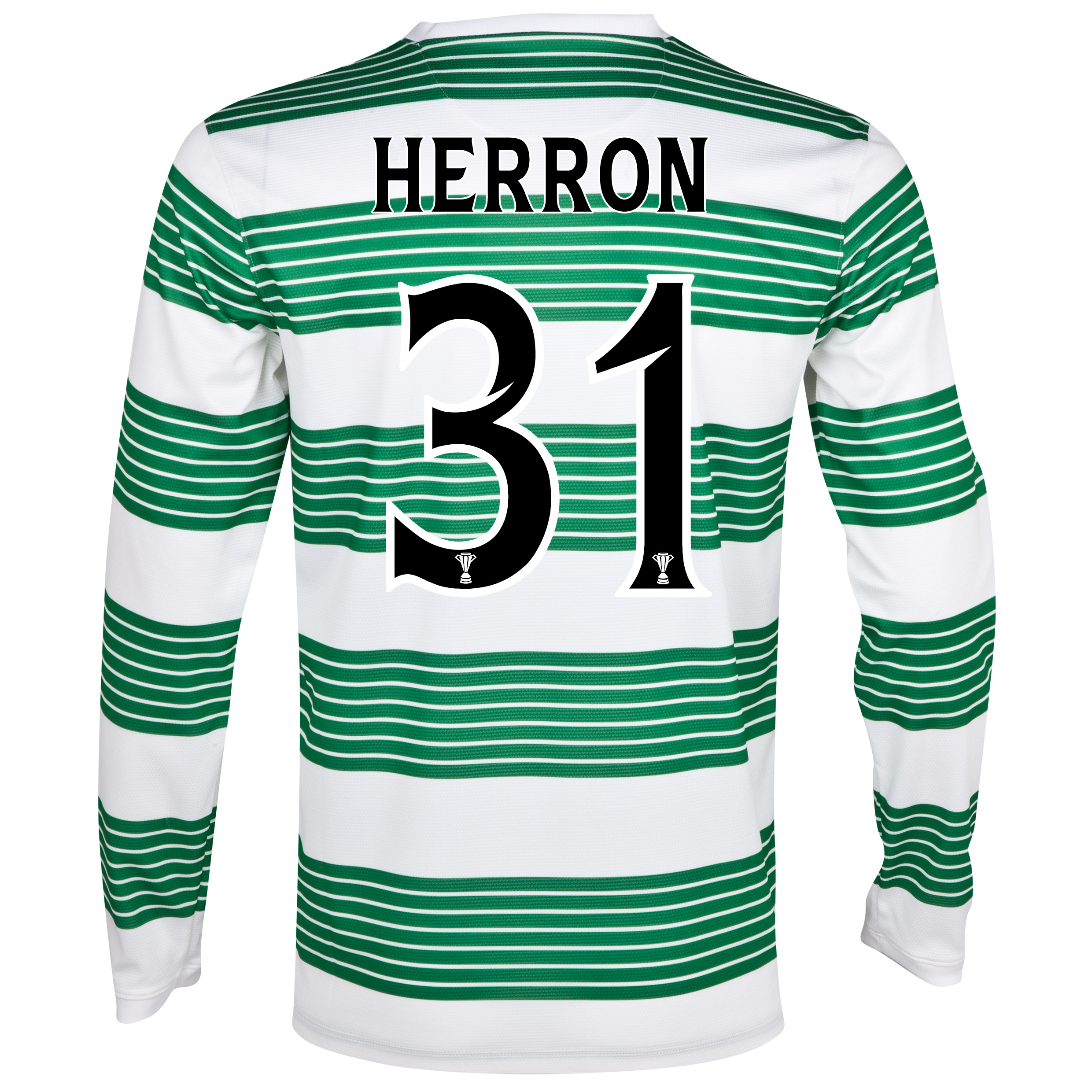 Celtic Home Shirt 2013/15 - L/S- Unsponsored with Herron 31 printing