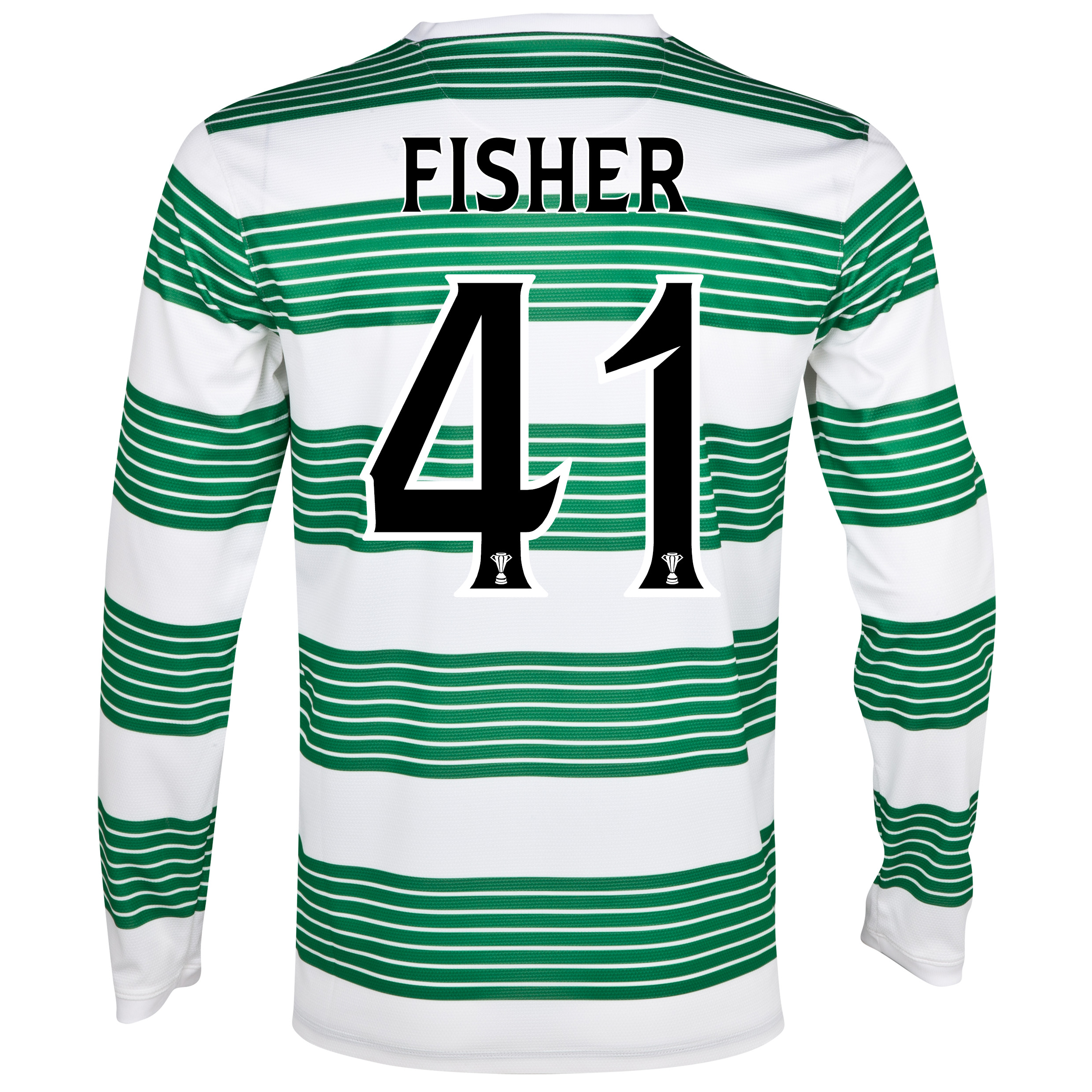 Celtic Home Shirt 2013/15 - L/S- Unsponsored with Fisher 41 printing