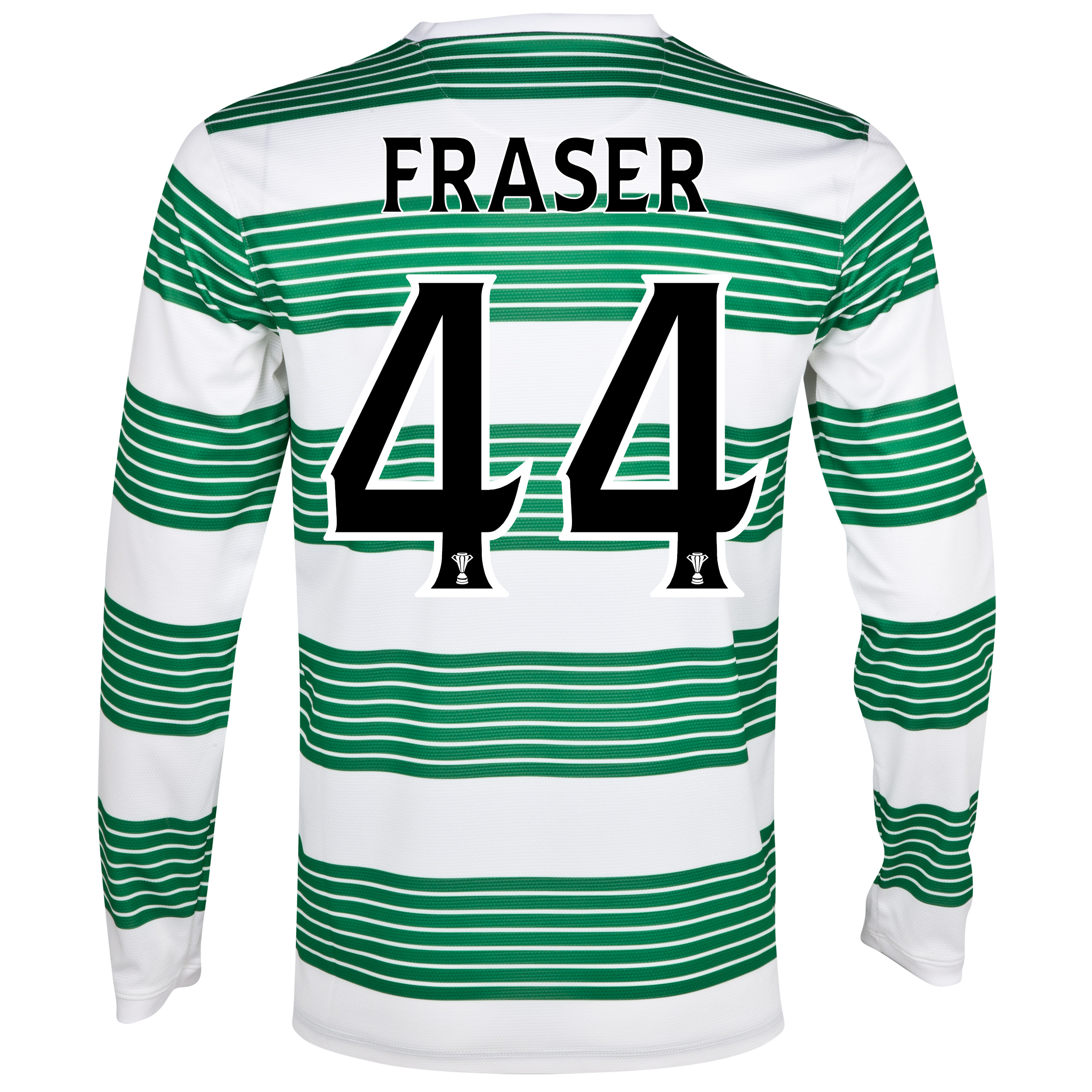 Celtic Home Shirt 2013/15 - L/S- Unsponsored with Fraser 44 printing
