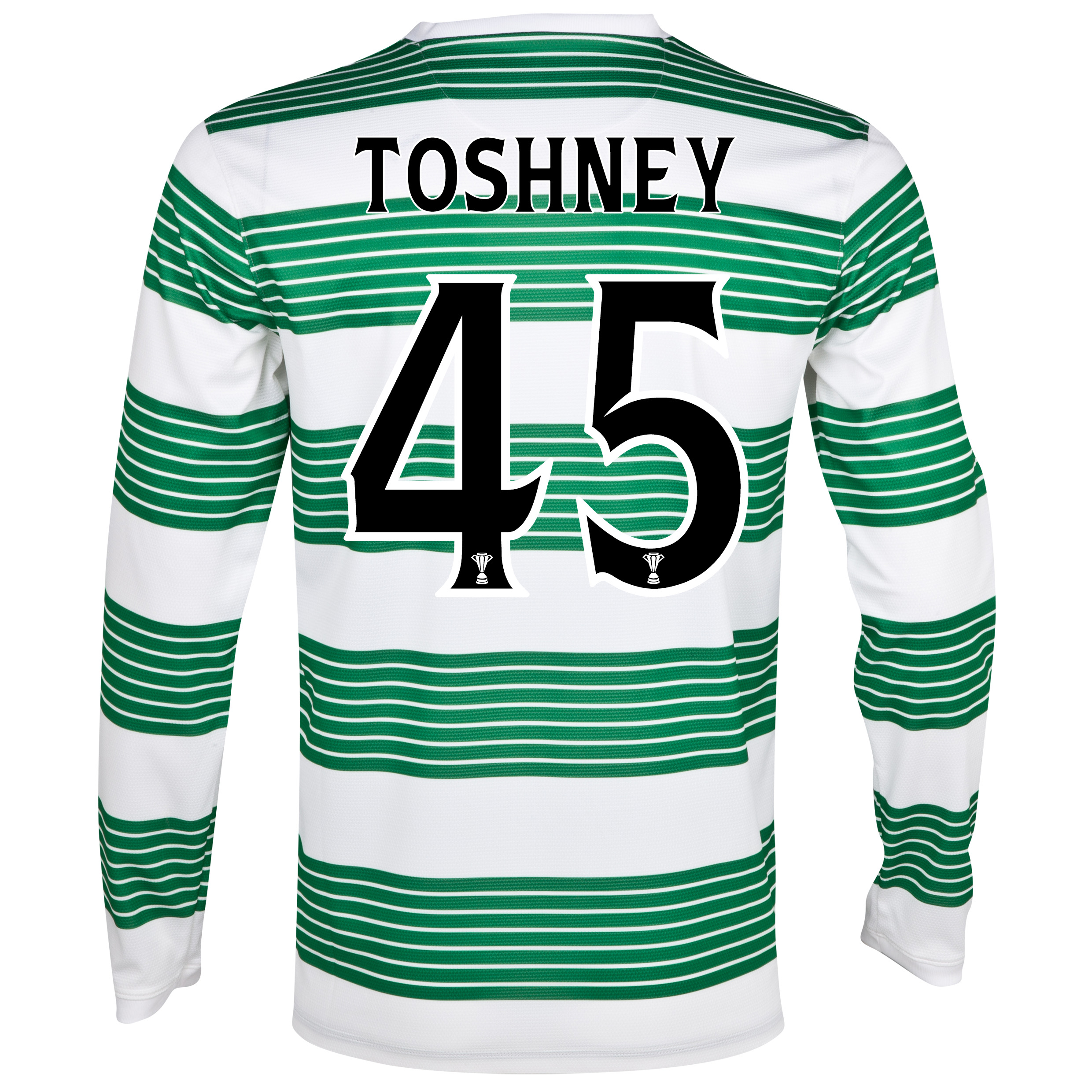 Celtic Home Shirt 2013/15 - L/S- Unsponsored with Toshney 45 printing