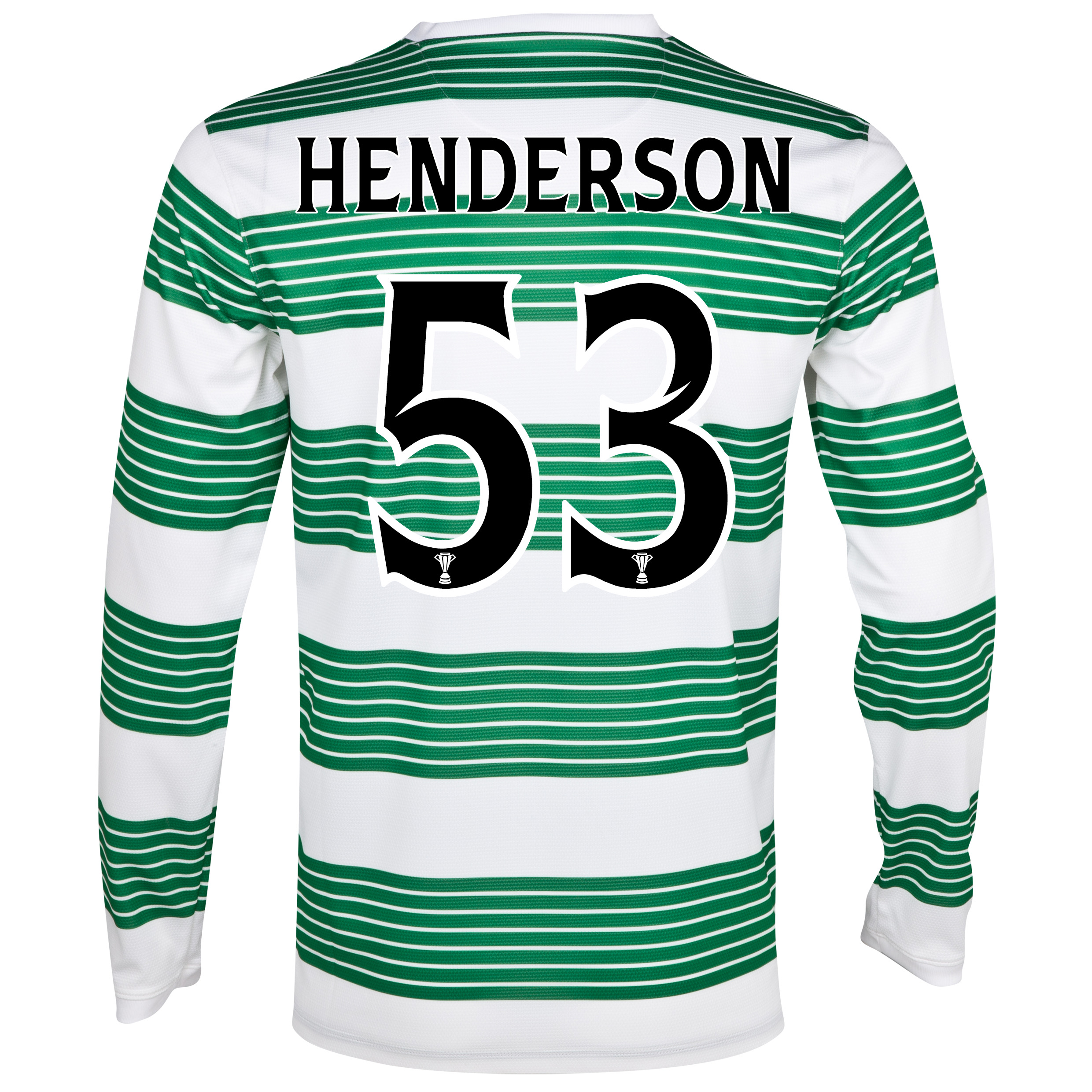 Celtic Home Shirt 2013/15 - L/S- Unsponsored with Henderson 53 printing