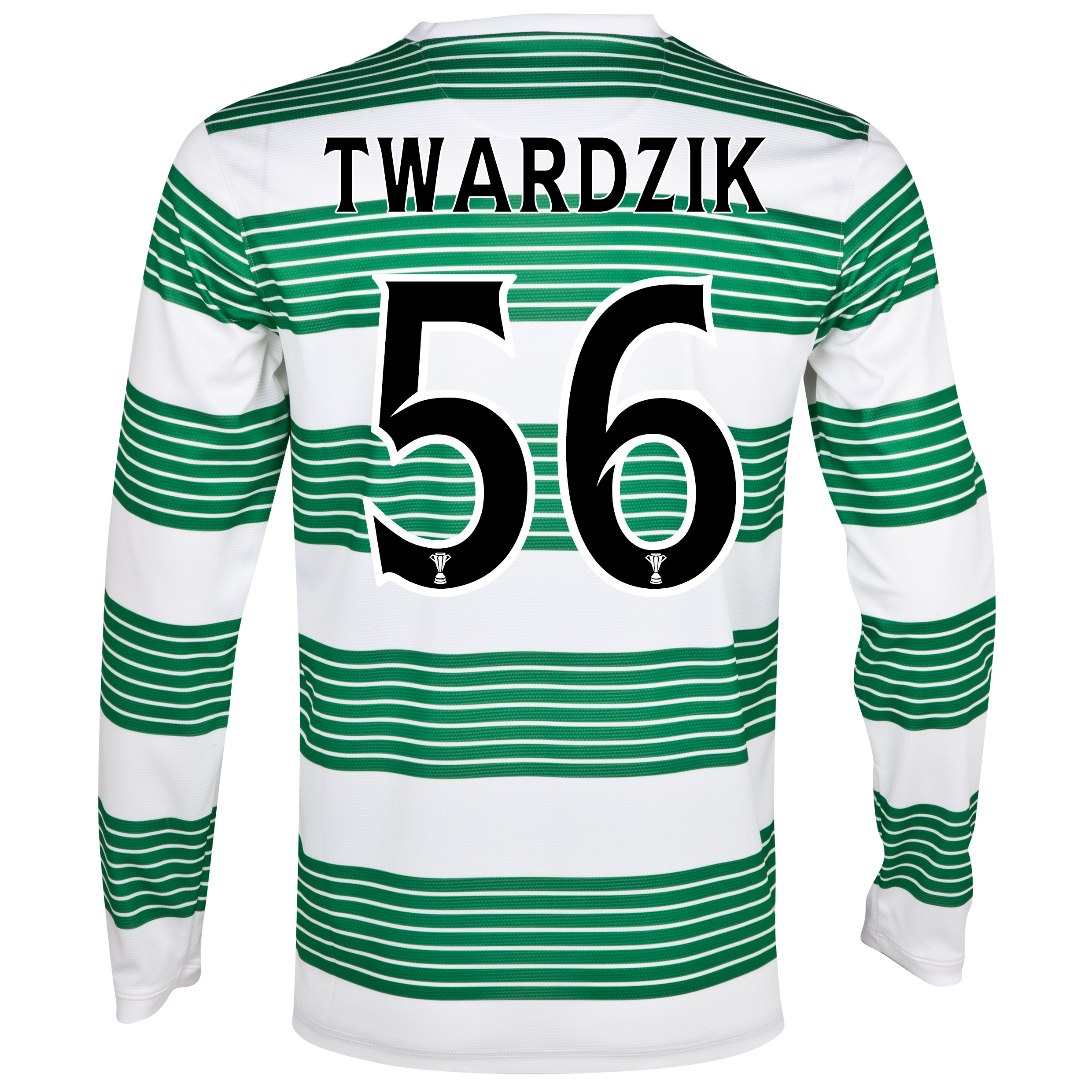 Celtic Home Shirt 2013/15 - L/S- Unsponsored with Twardzik 56 printing