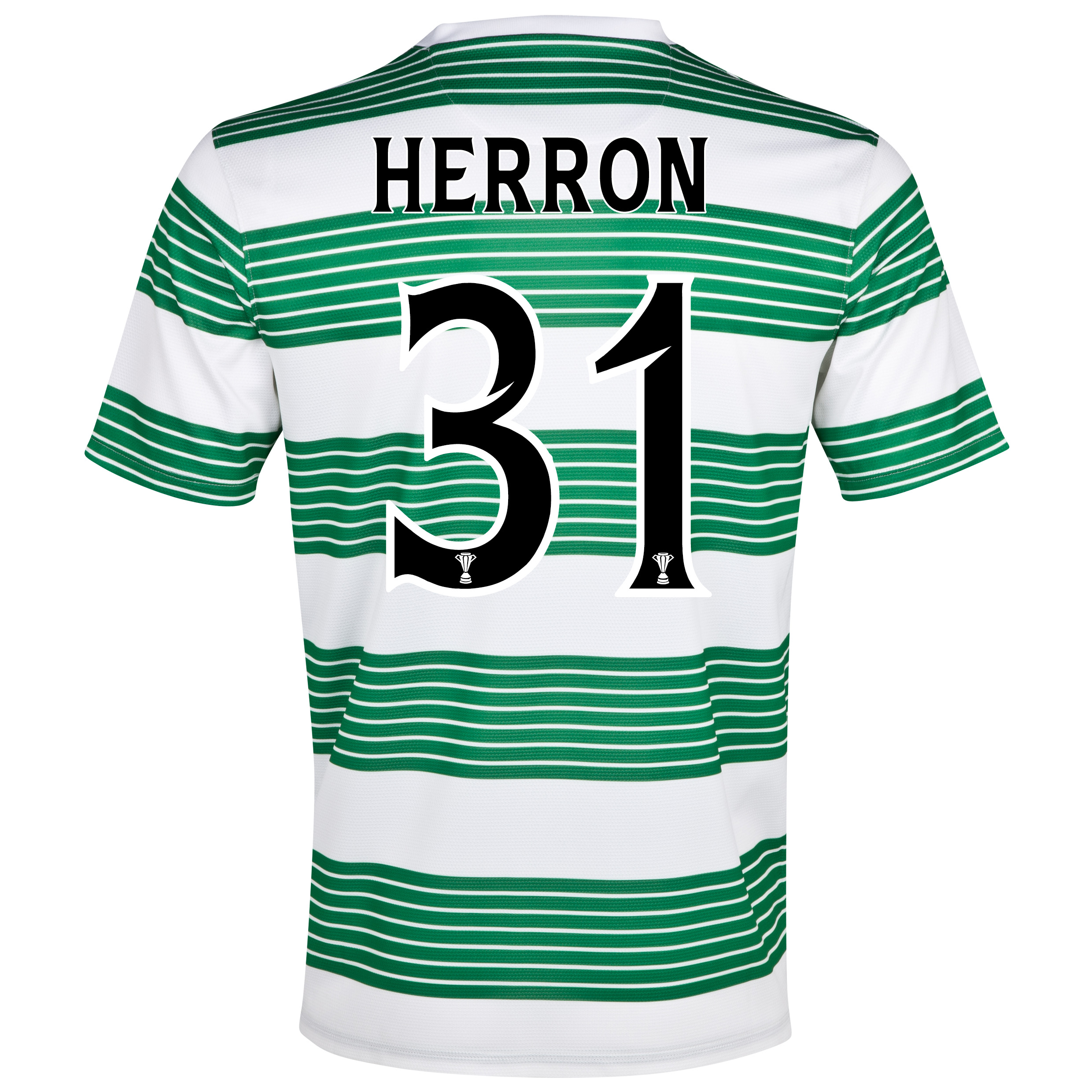 Celtic Home Shirt 2013/15 - Kids with Herron 31 printing