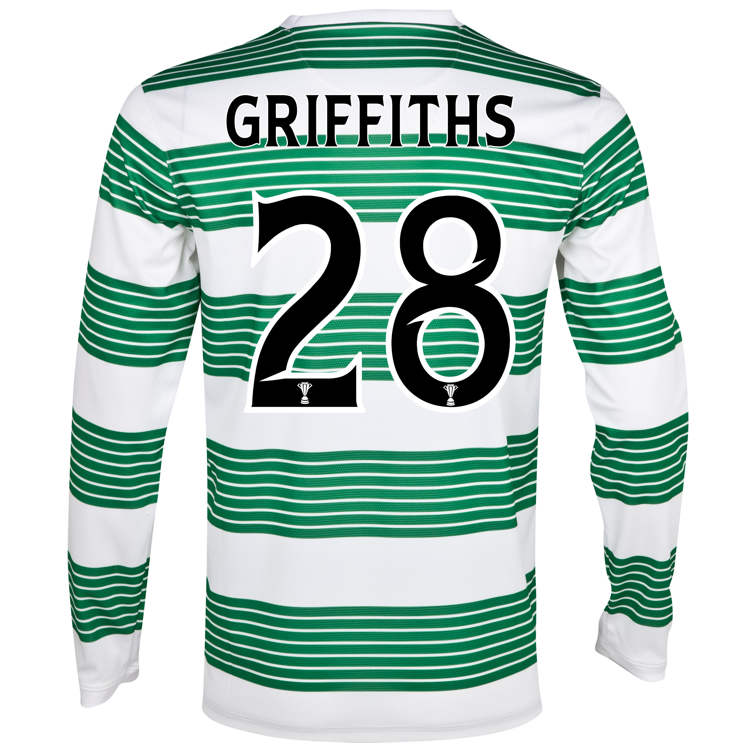 Celtic Home Shirt 2013/15 - Long Sleeved - Kids with Griffiths 28 printing