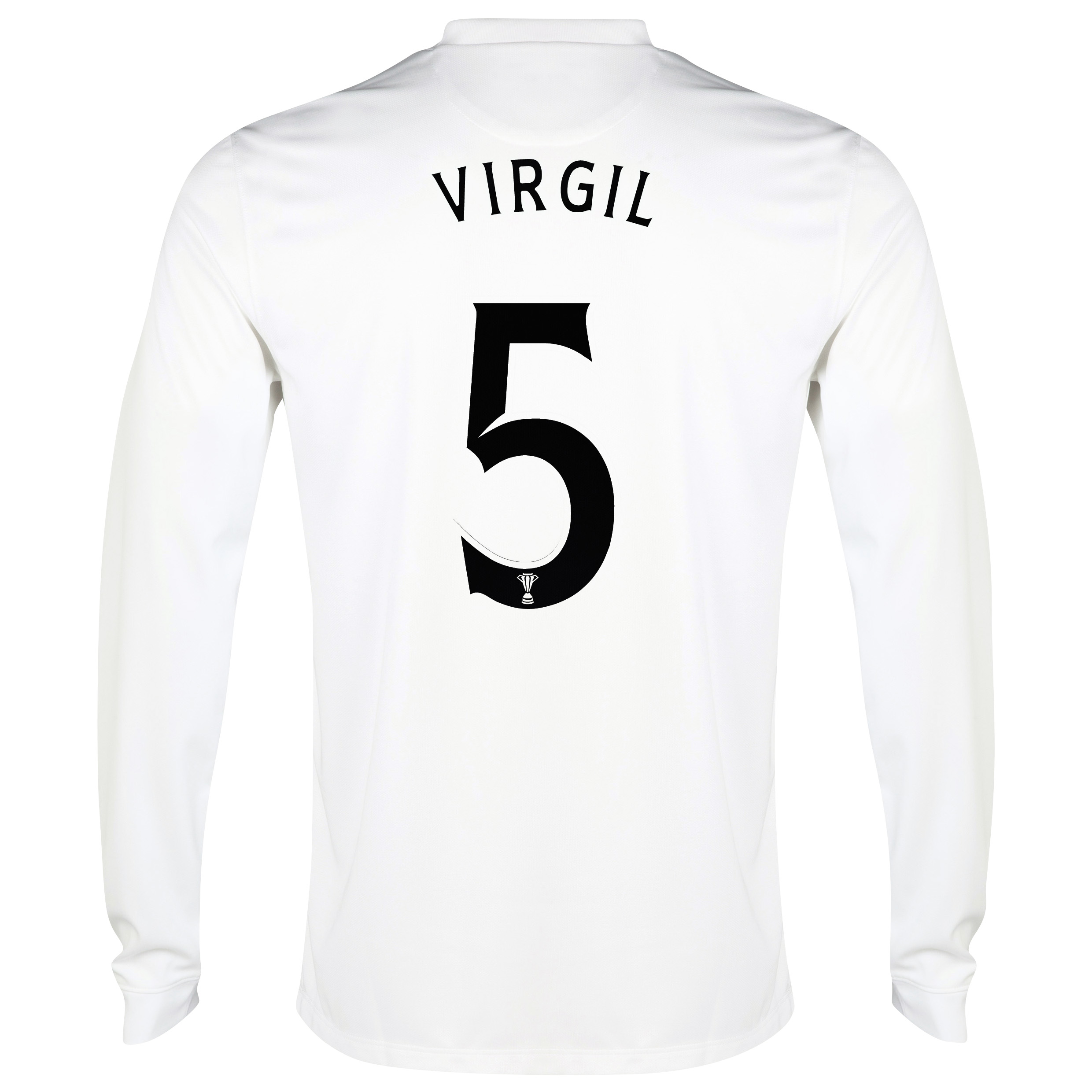 Celtic 3rd Shirt 2014/15 - Long Sleeved - Unsponsored White with Virgil 5 printing