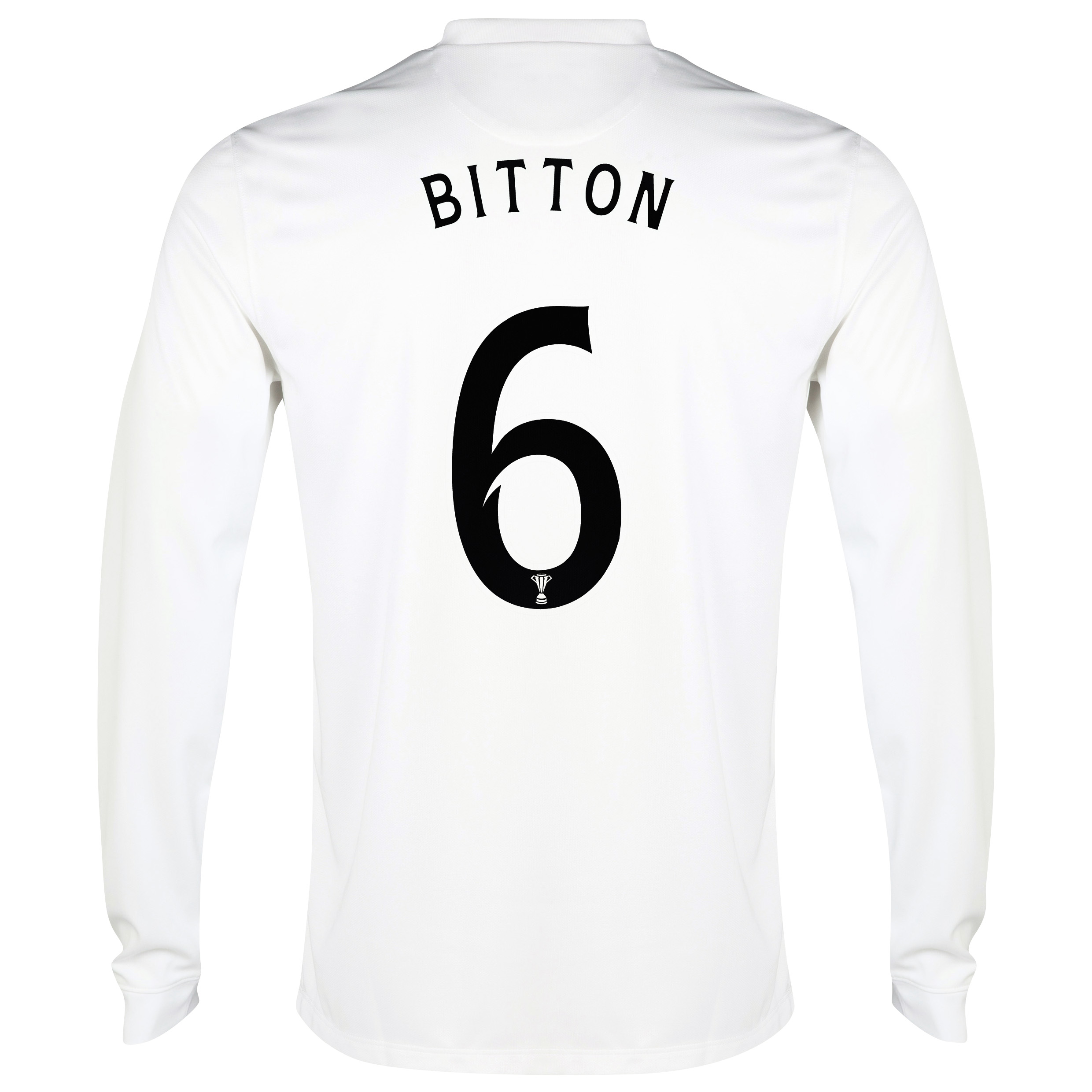 Celtic 3rd Shirt 2014/15 - Long Sleeved - Unsponsored White with Bitton 6 printing