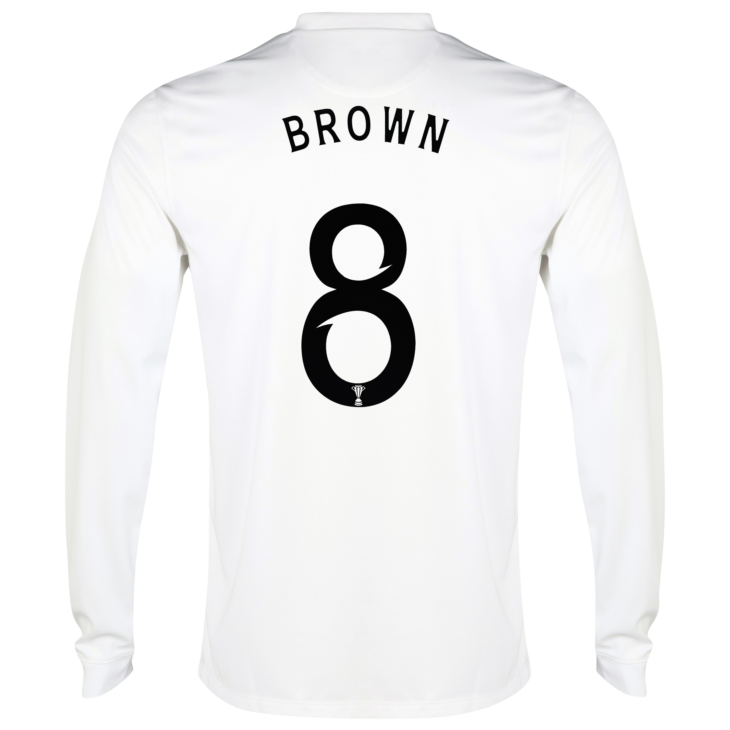 Celtic 3rd Shirt 2014/15 - Long Sleeved - Unsponsored White with Brown 8 printing