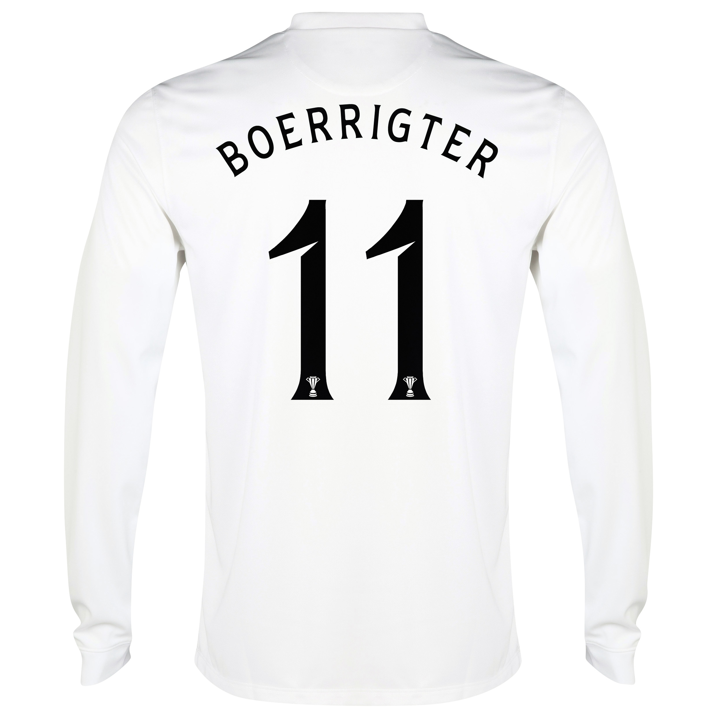 Celtic 3rd Shirt 2014/15 - Long Sleeved - Unsponsored White with Boerrigter 11 printing