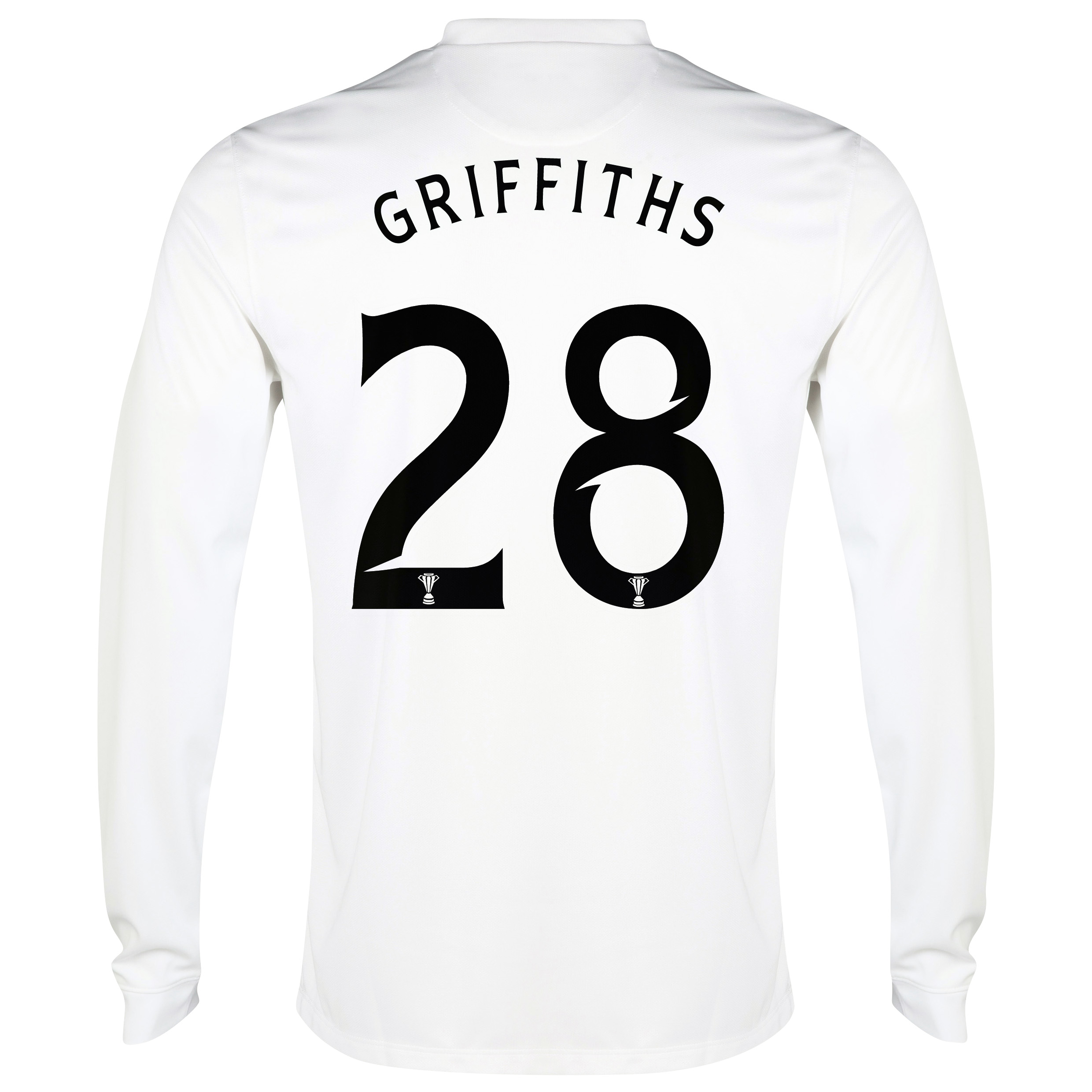 Celtic 3rd Shirt 2014/15 - Long Sleeved - Unsponsored White with Griffiths 28 printing
