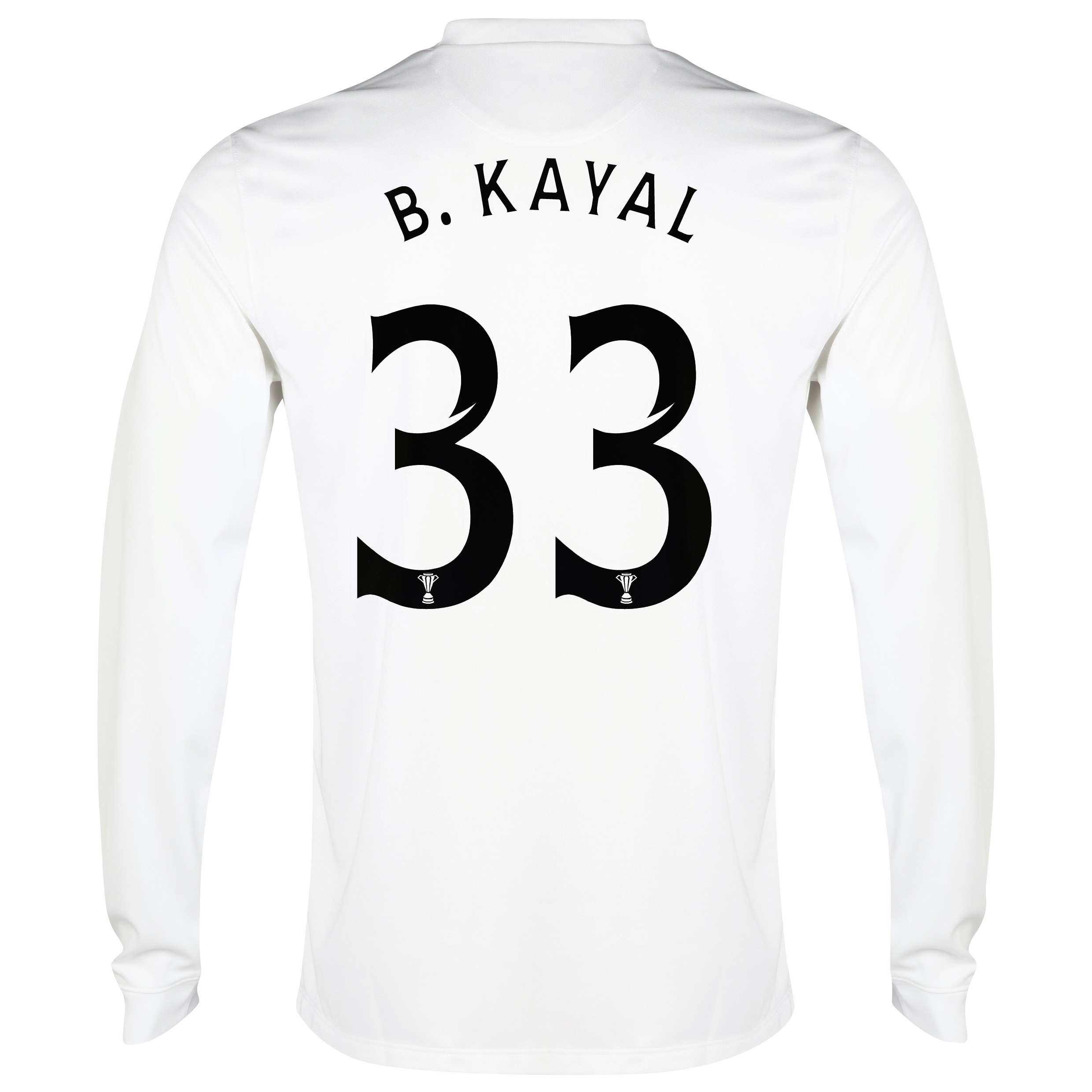 Celtic 3rd Shirt 2014/15 - Long Sleeved - Unsponsored White with B.Kayal 33 printing