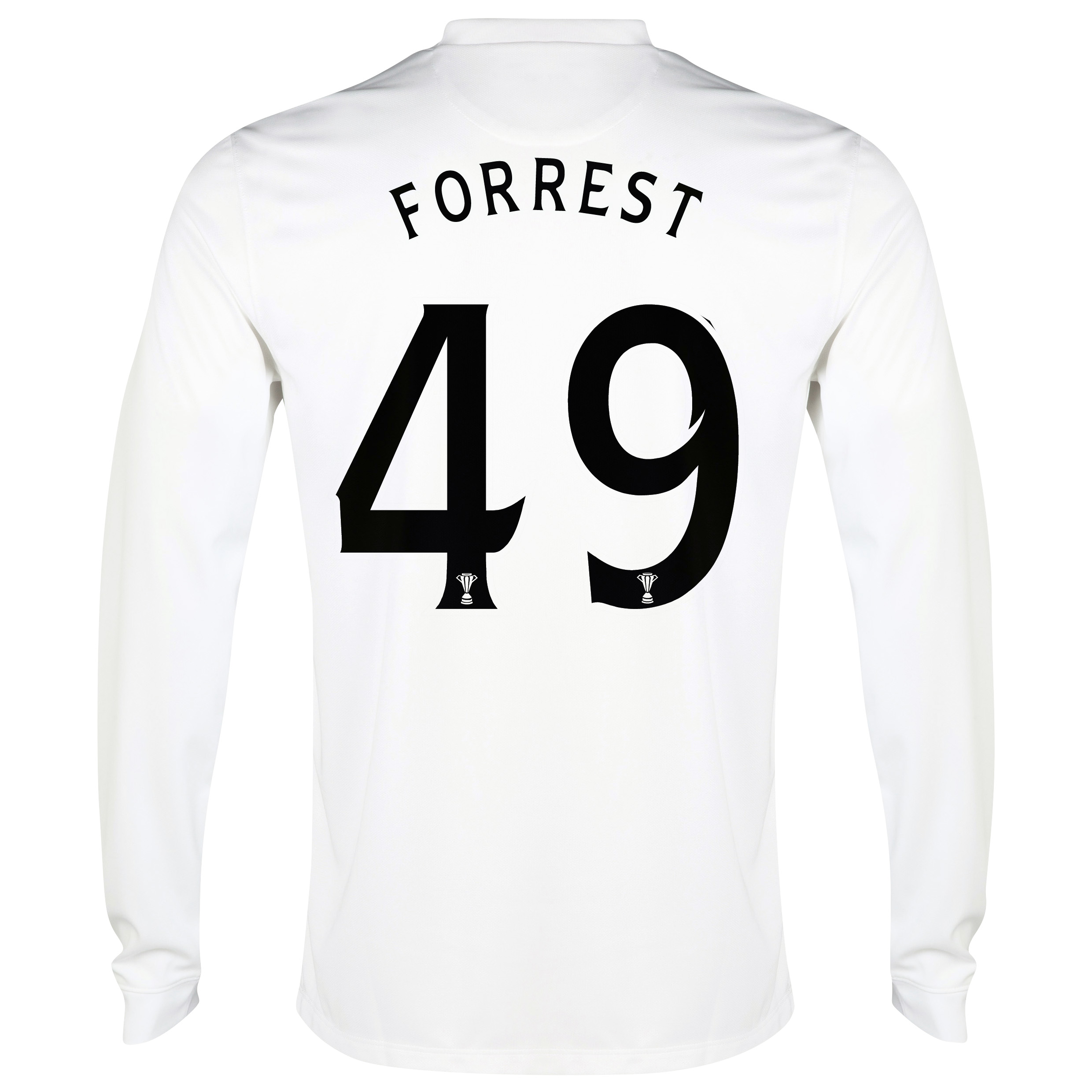 Celtic 3rd Shirt 2014/15 - Long Sleeved - Unsponsored White with Forrest 49 printing