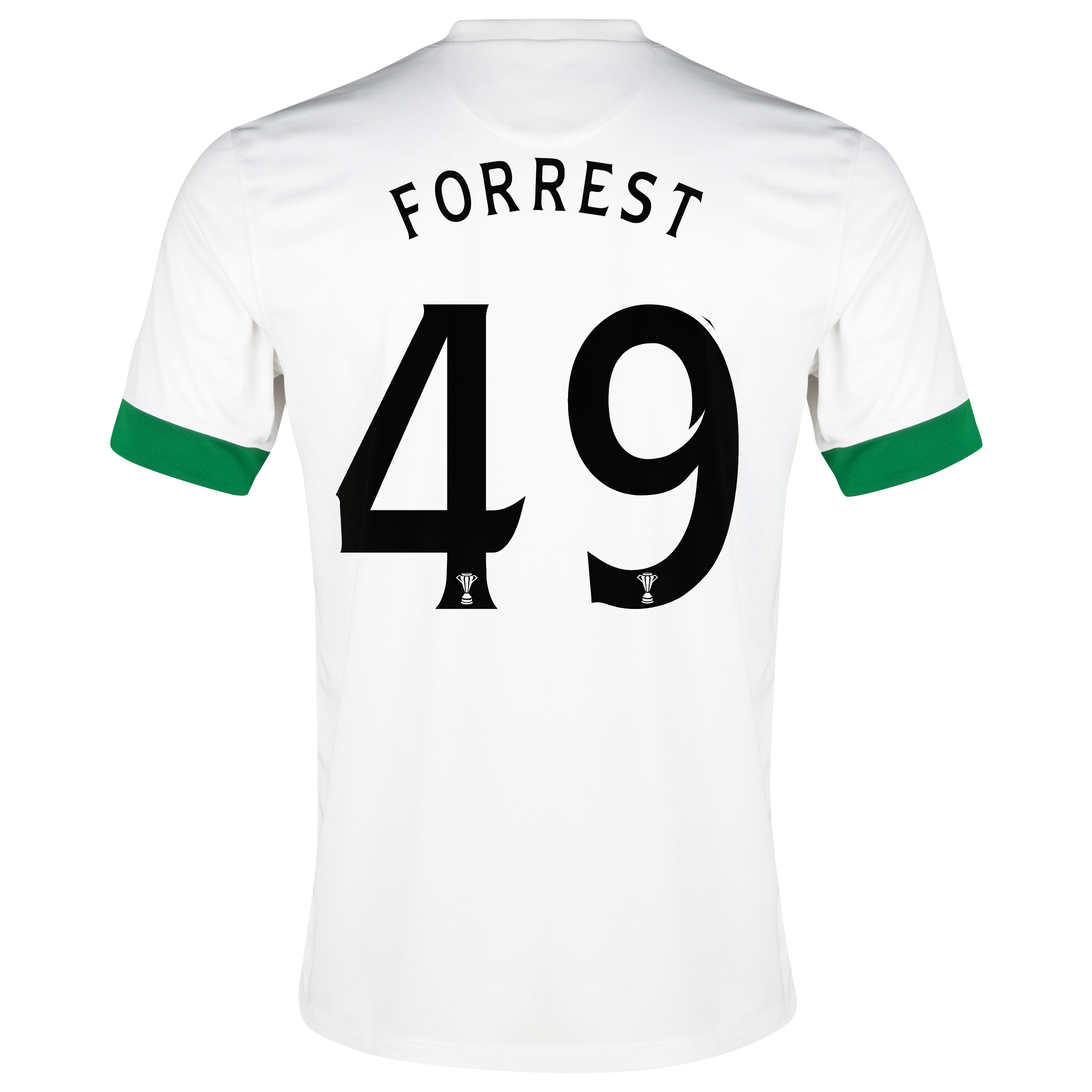 Celtic 3rd Shirt 2014/15 - Kids White with Forrest 49 printing