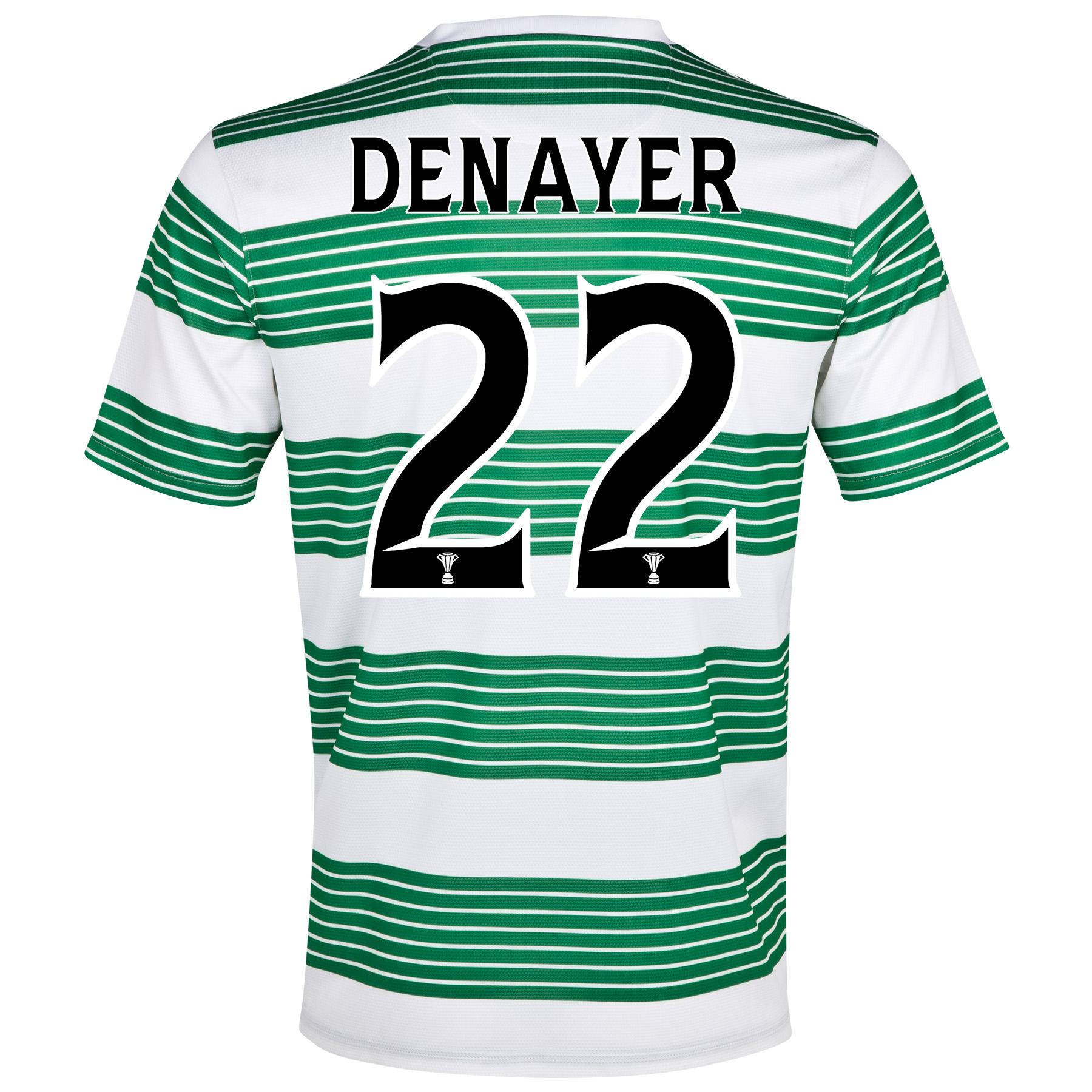 Celtic Home Shirt 2013/15- Unsponsored with Denayer 22 printing