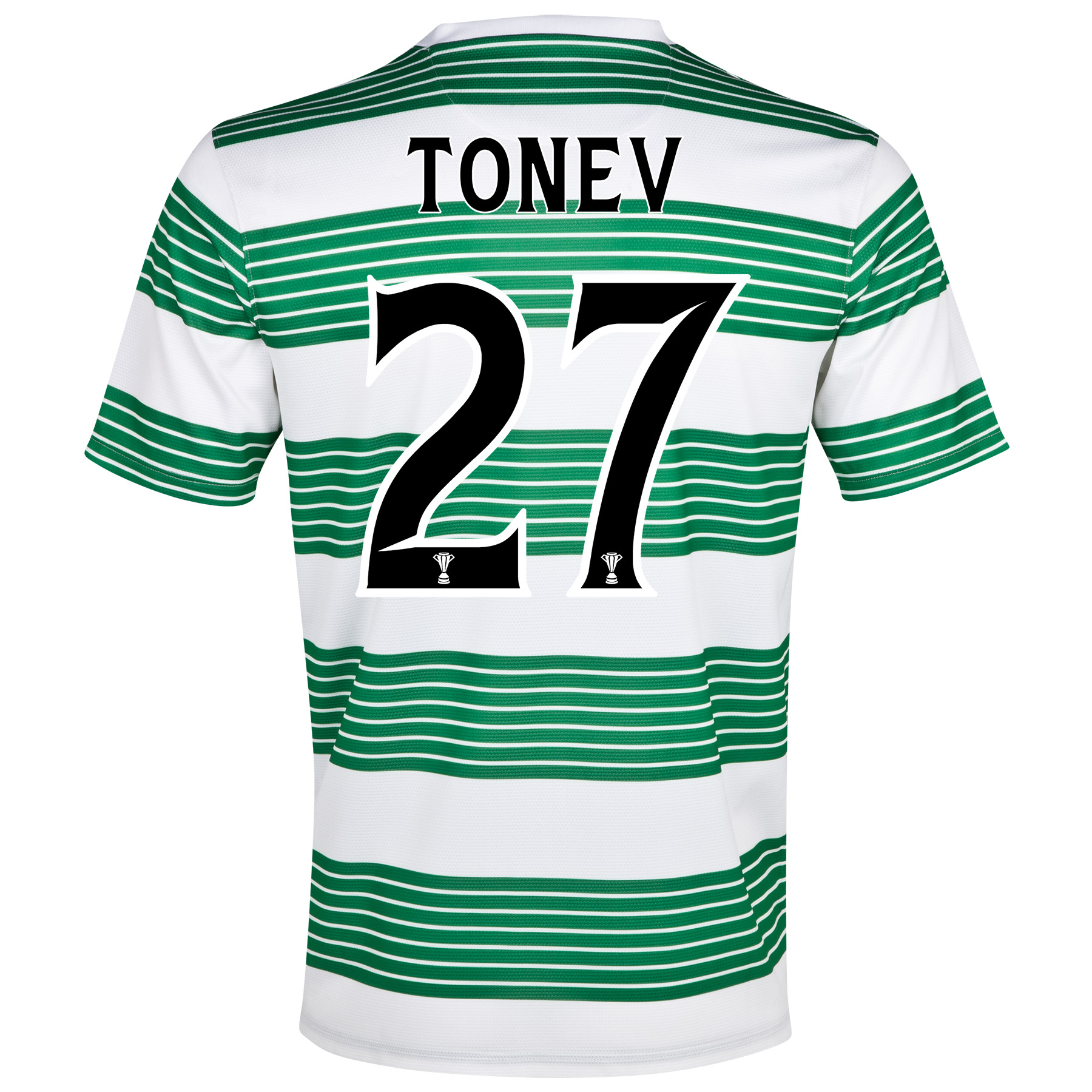 Celtic Home Shirt 2013/15- Unsponsored with Tonev 27 printing