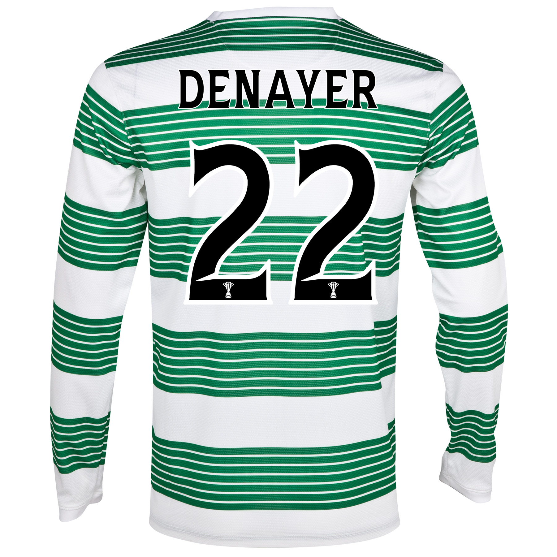 Celtic Home Shirt 2013/15 - L/S- Unsponsored with Denayer 22 printing