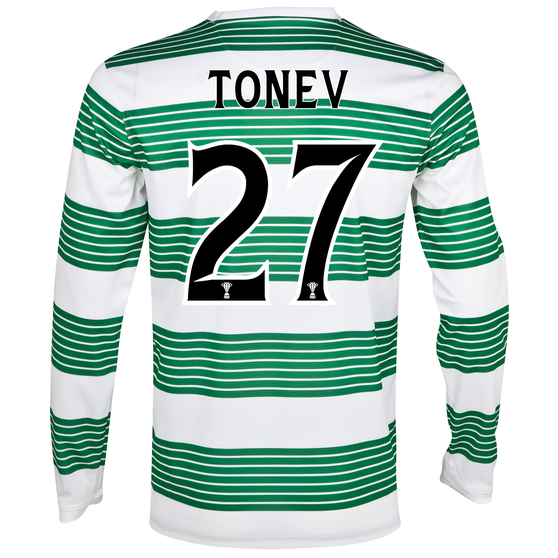 Celtic Home Shirt 2013/15 - L/S- Unsponsored with Tonev 27 printing