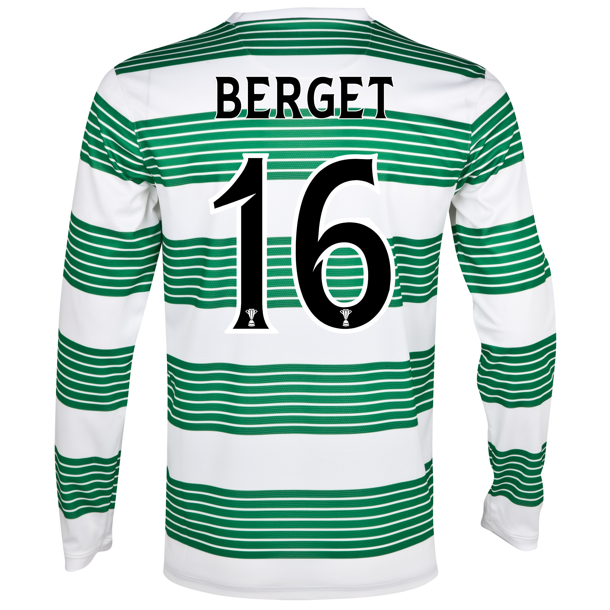Celtic Home Shirt 2013/15 - L/S- Unsponsored with Berget 16 printing