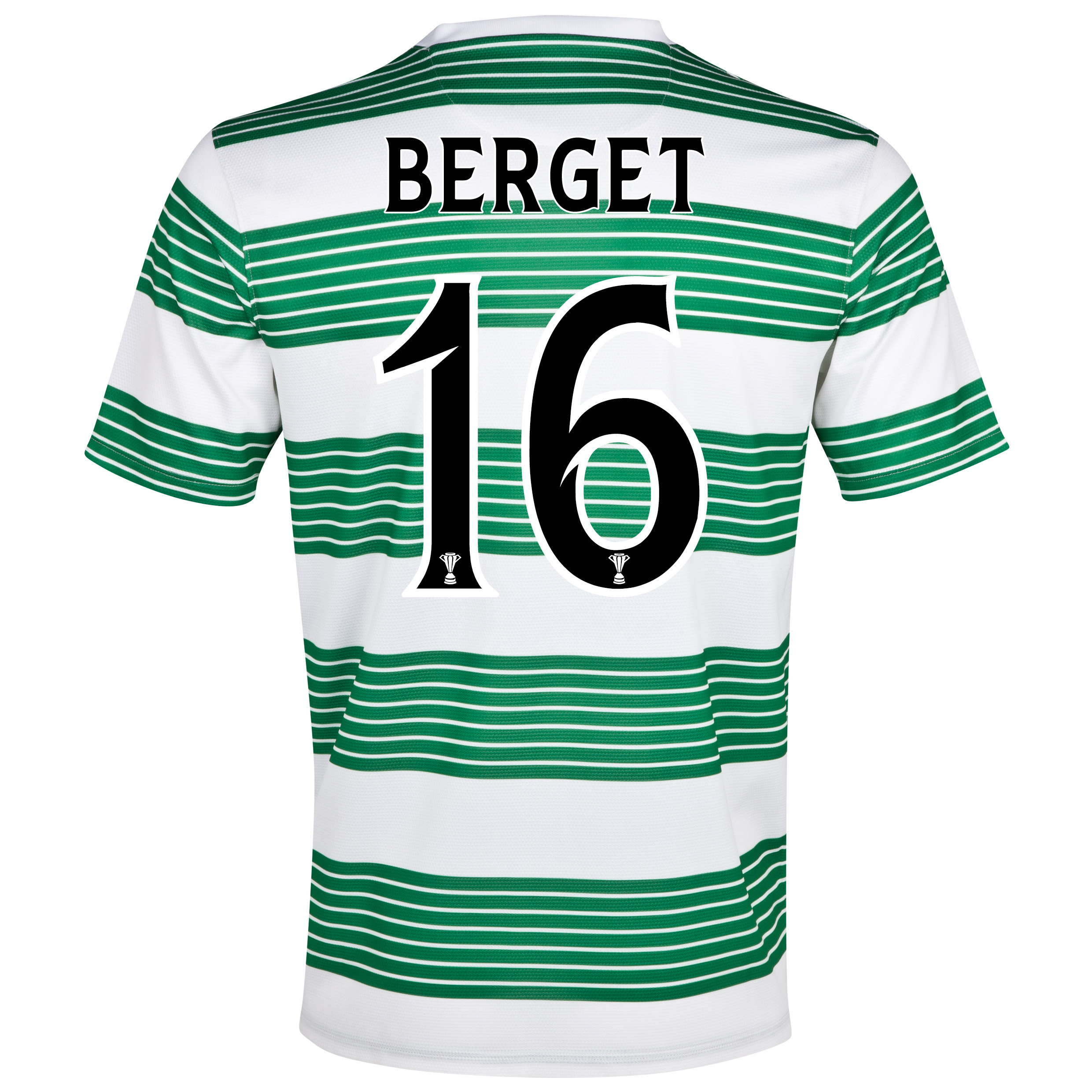 Celtic Home Shirt 2013/15 - Kids with Berget 16 printing