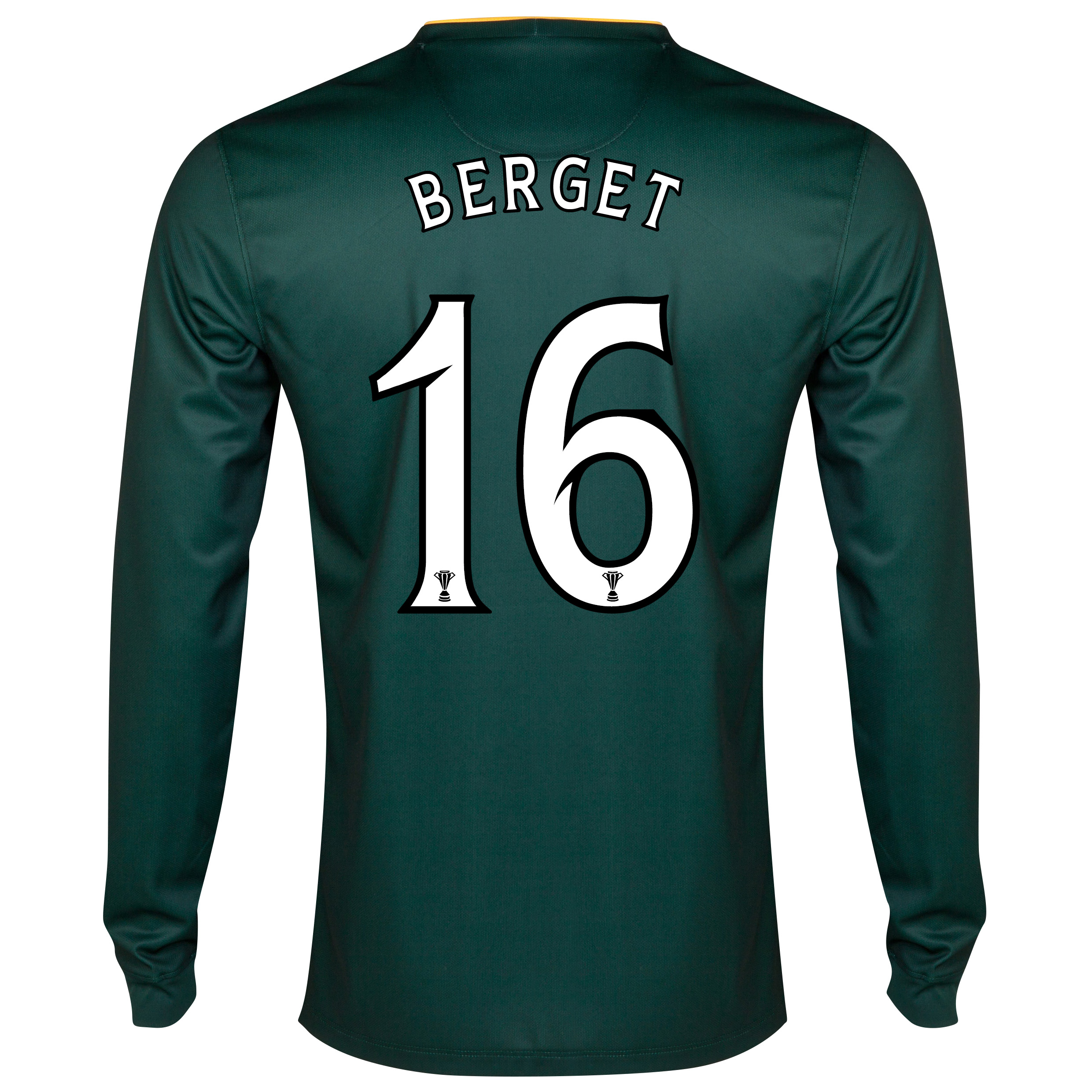 Celtic Away Shirt 2014/15 - Long Sleeved - Unsponsored Green with Berget 16 printing