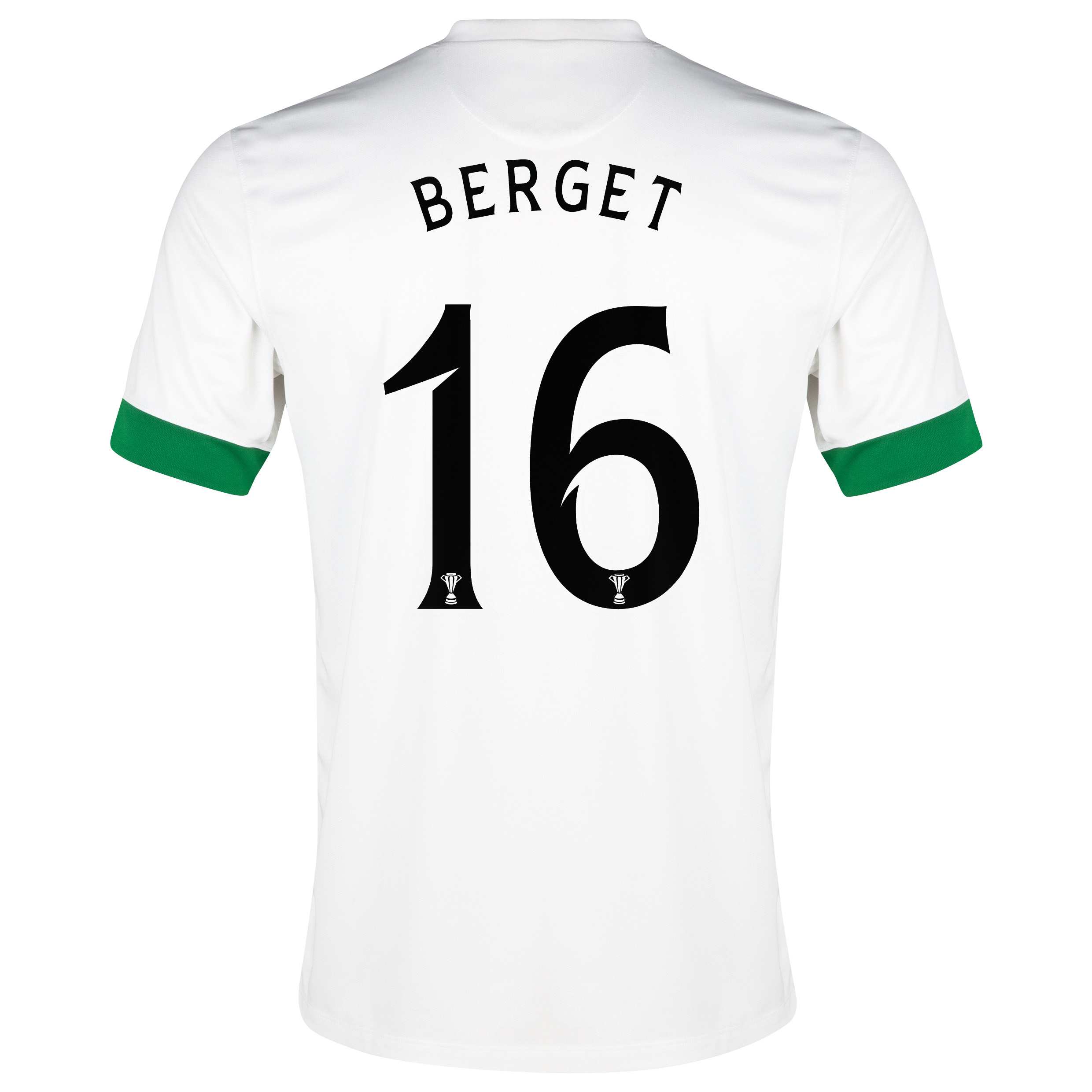 Celtic 3rd Shirt 2014/15 - Unsponsored White with Berget 16 printing