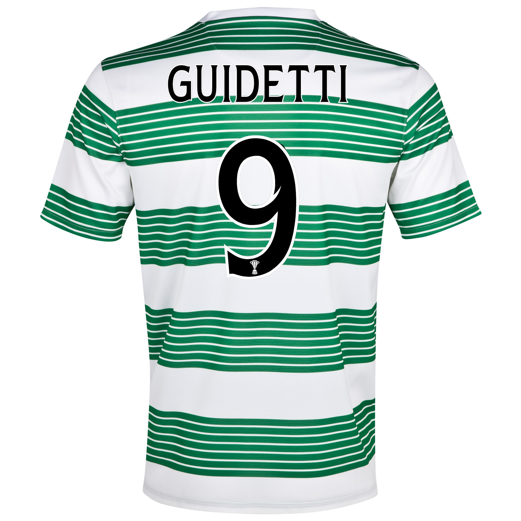 Celtic Home Shirt 2013/15- Unsponsored with Guidetti 9 printing