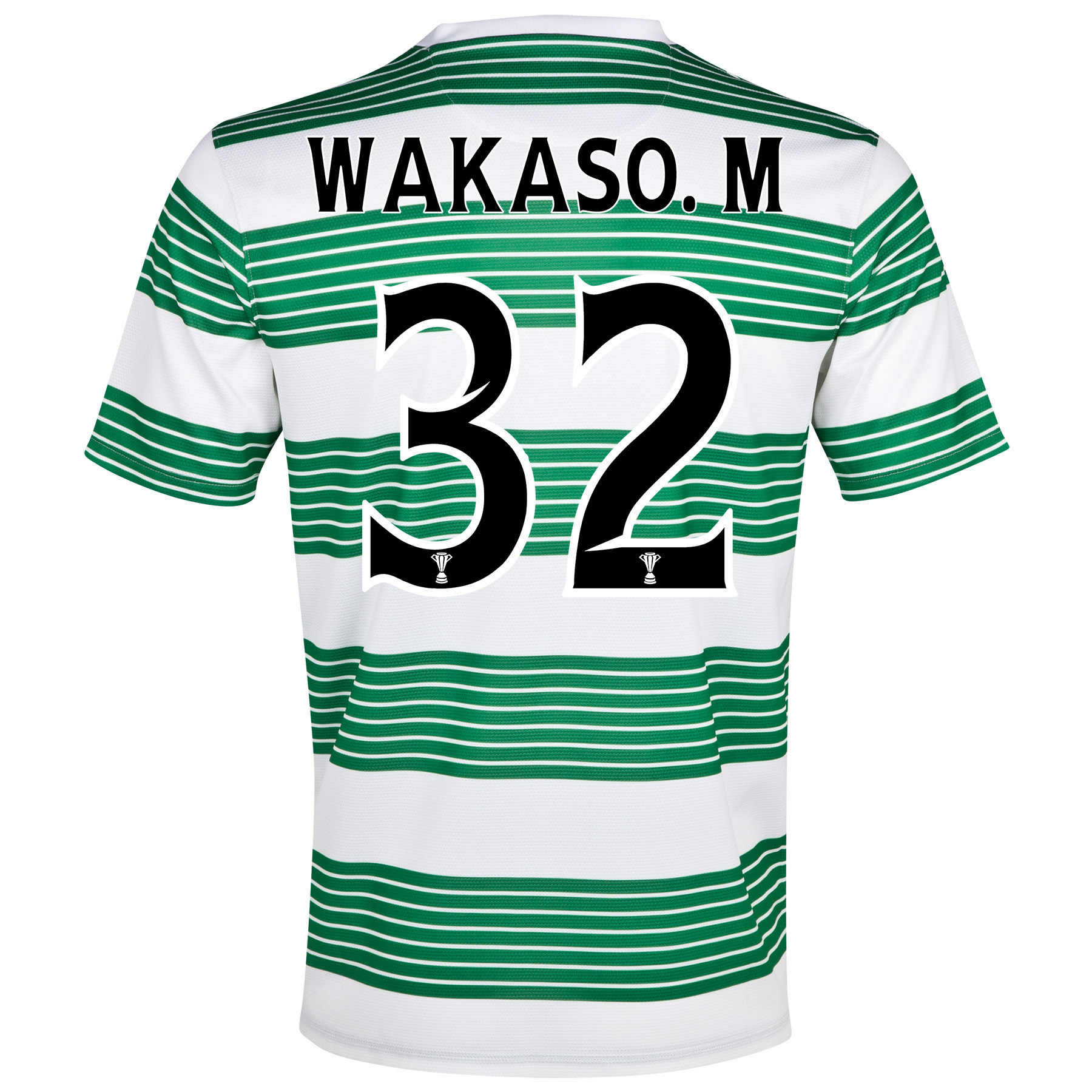 Celtic Home Shirt 2013/15- Unsponsored with Wakaso.M 32 printing