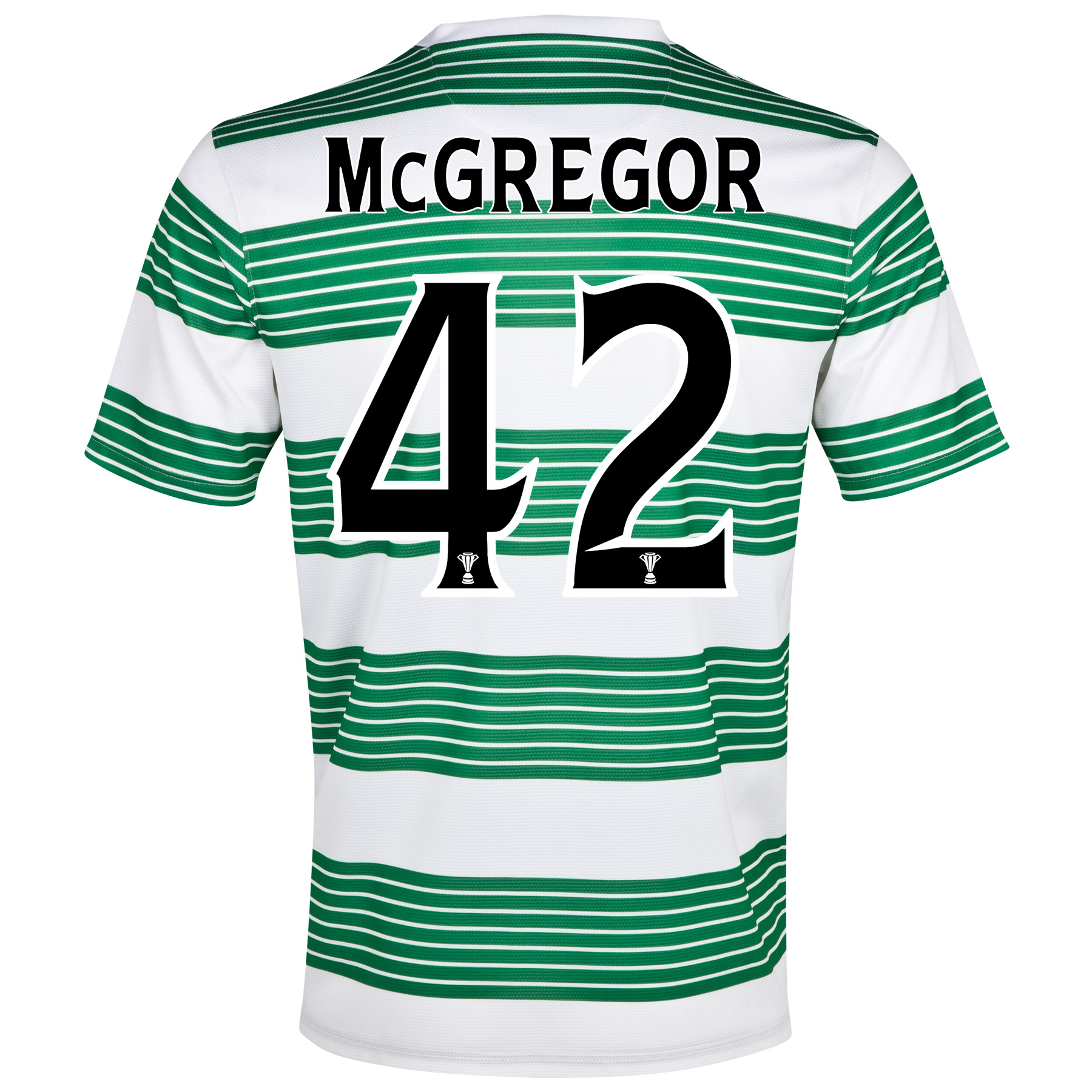 Celtic Home Shirt 2013/15- Unsponsored with McGregor 42 printing