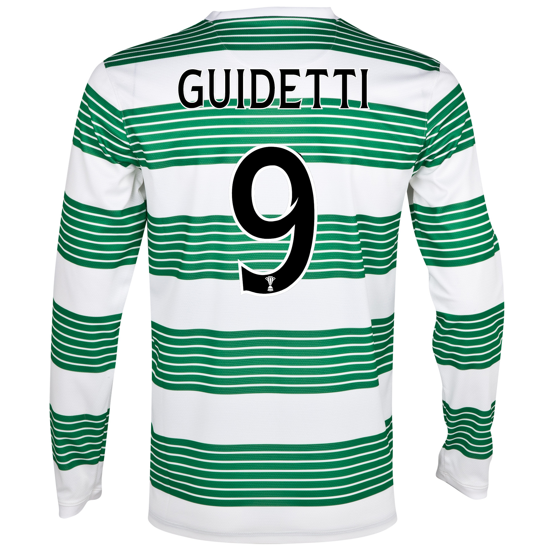 Celtic Home Shirt 2013/15 - L/S- Unsponsored with Guidetti 9 printing