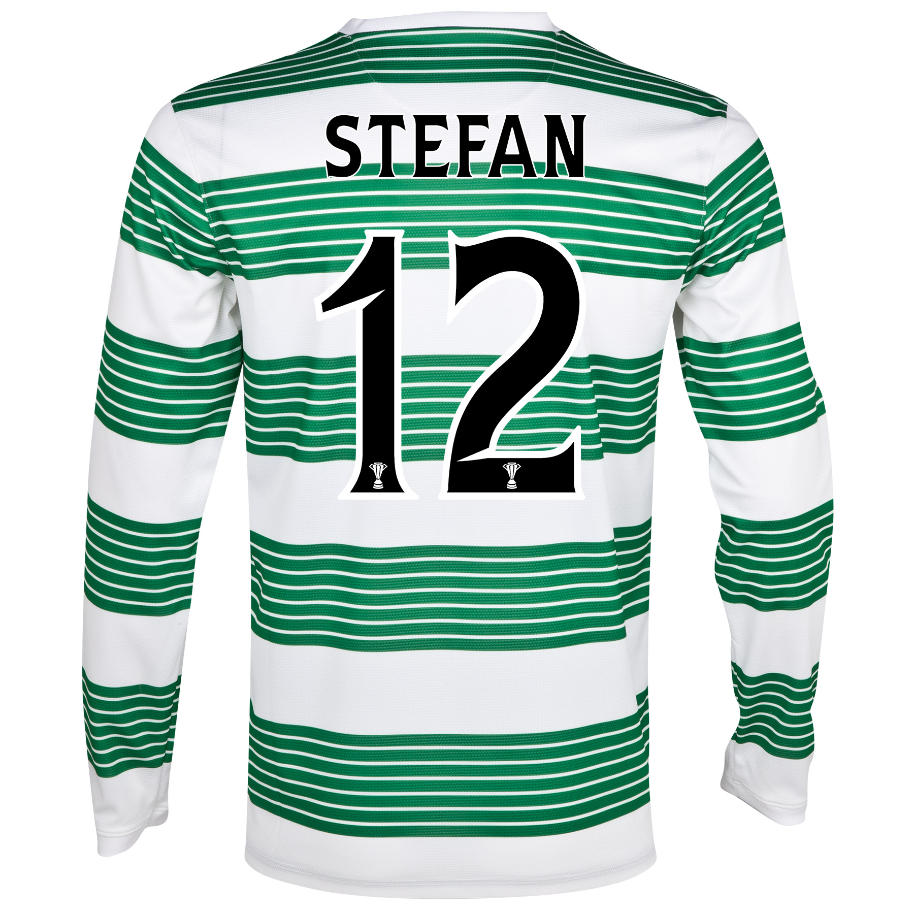 Celtic Home Shirt 2013/15 - L/S- Unsponsored with Stefan 12 printing
