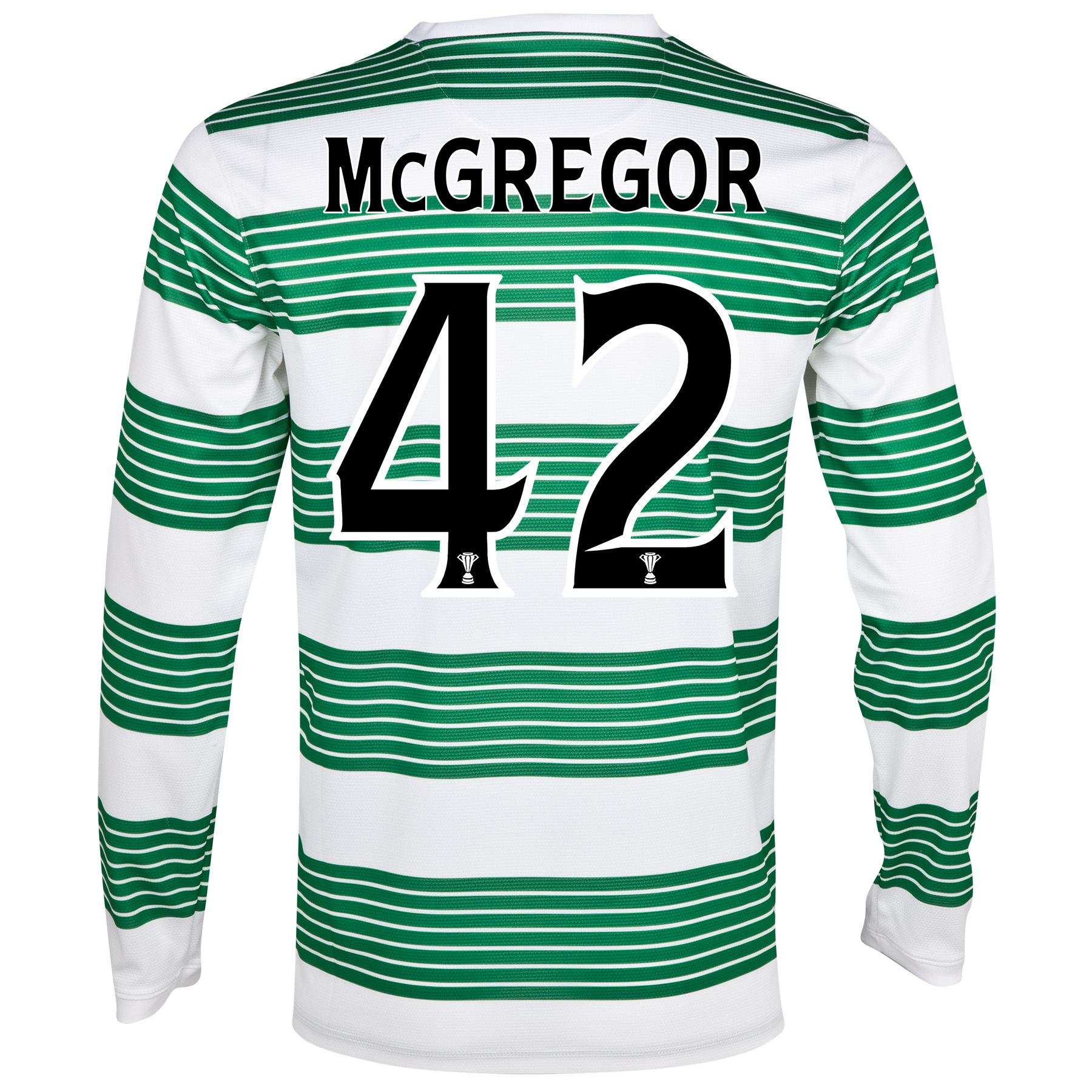Celtic Home Shirt 2013/15 - L/S- Unsponsored with McGregor 42 printing