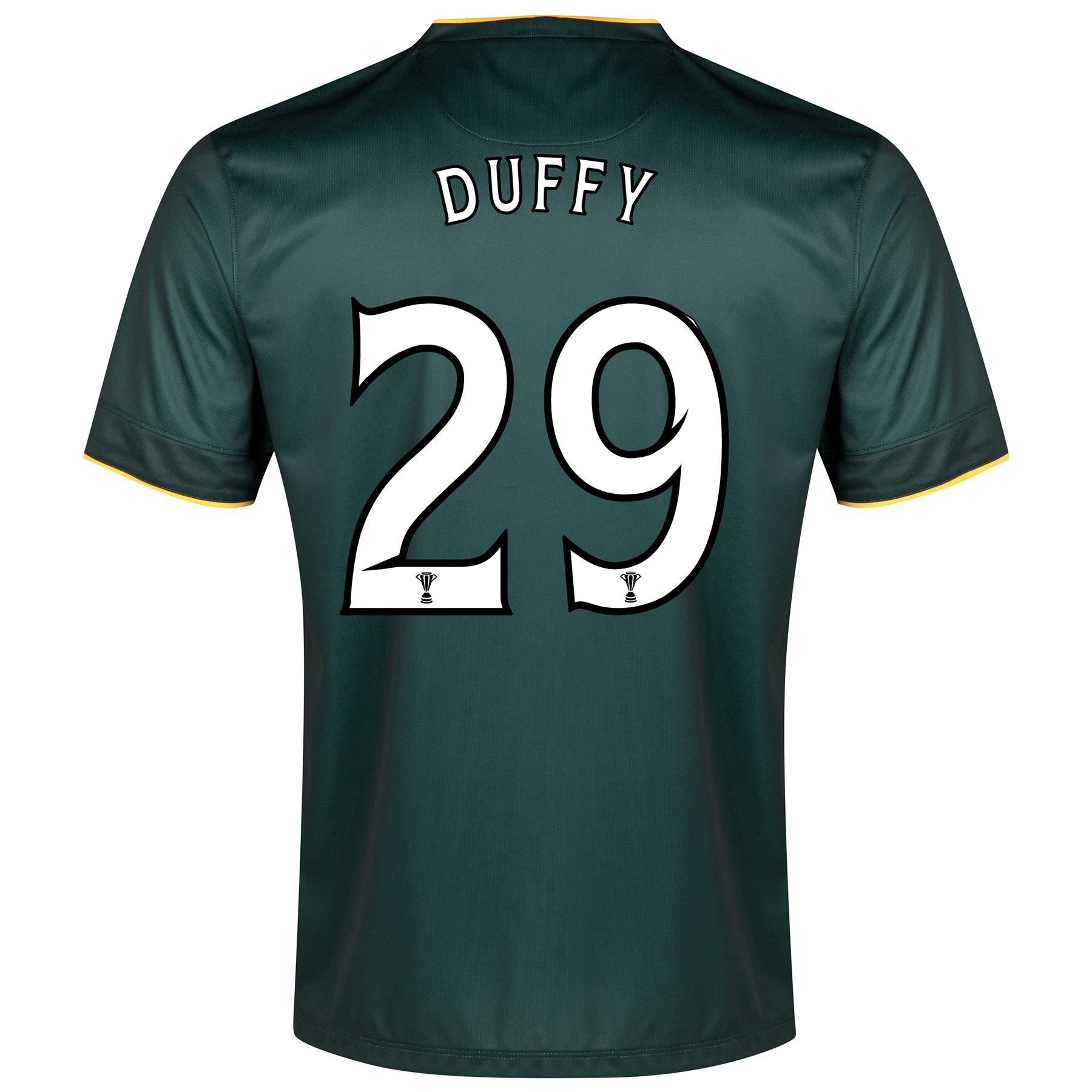 Celtic Away Shirt 2014/15 - With Sponsor Green with Duffy 29 printing
