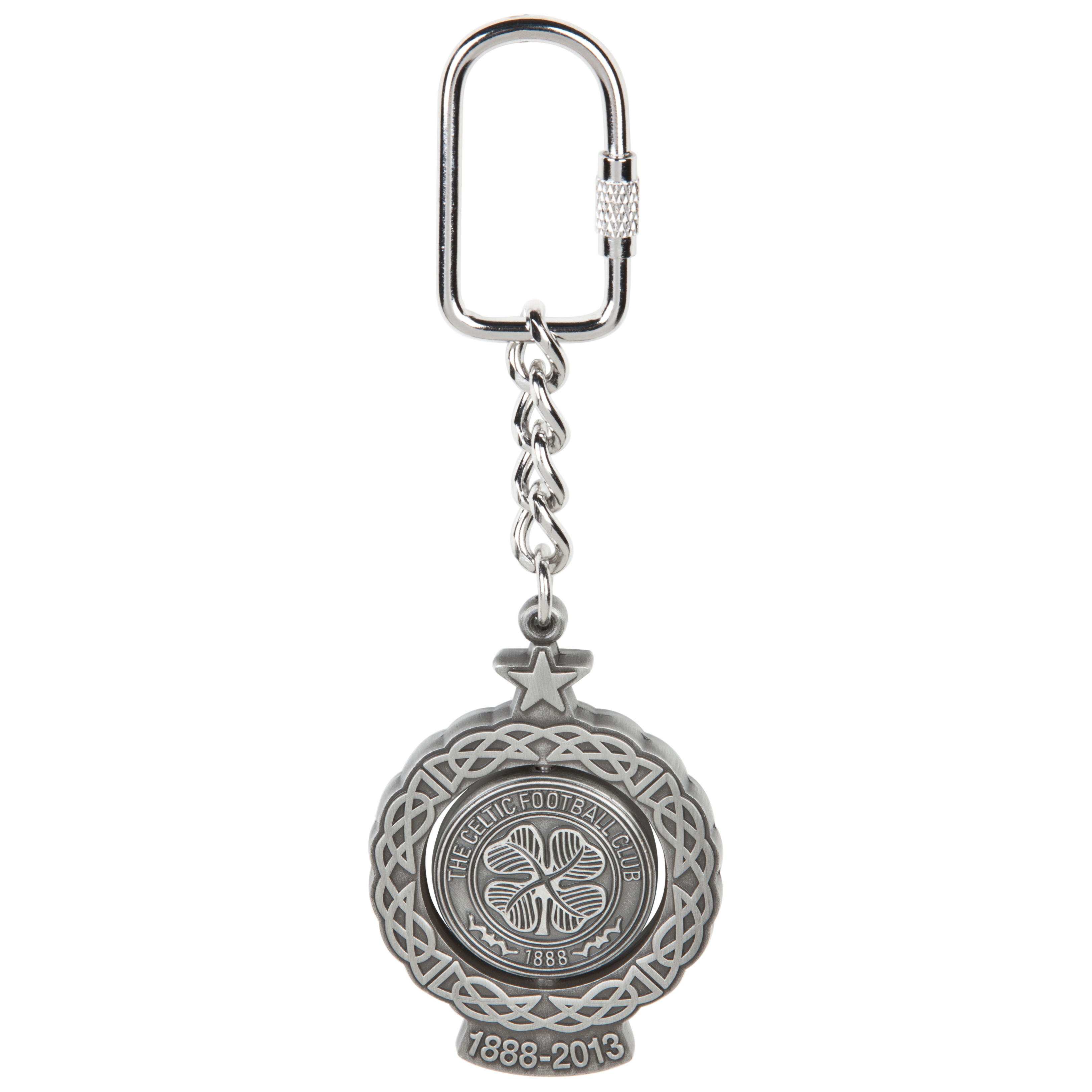 Celtic 125th Anniversary Spinner Keyring