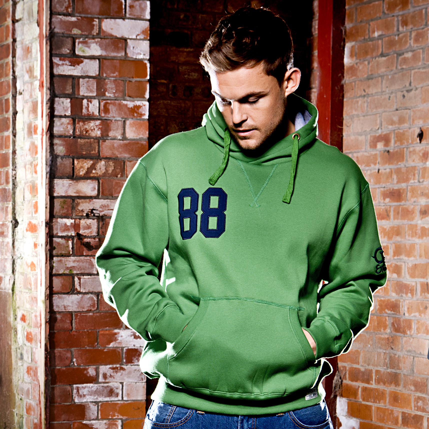 Celtic Heritage 88 Fleece Hoody - Grass Green - Mens