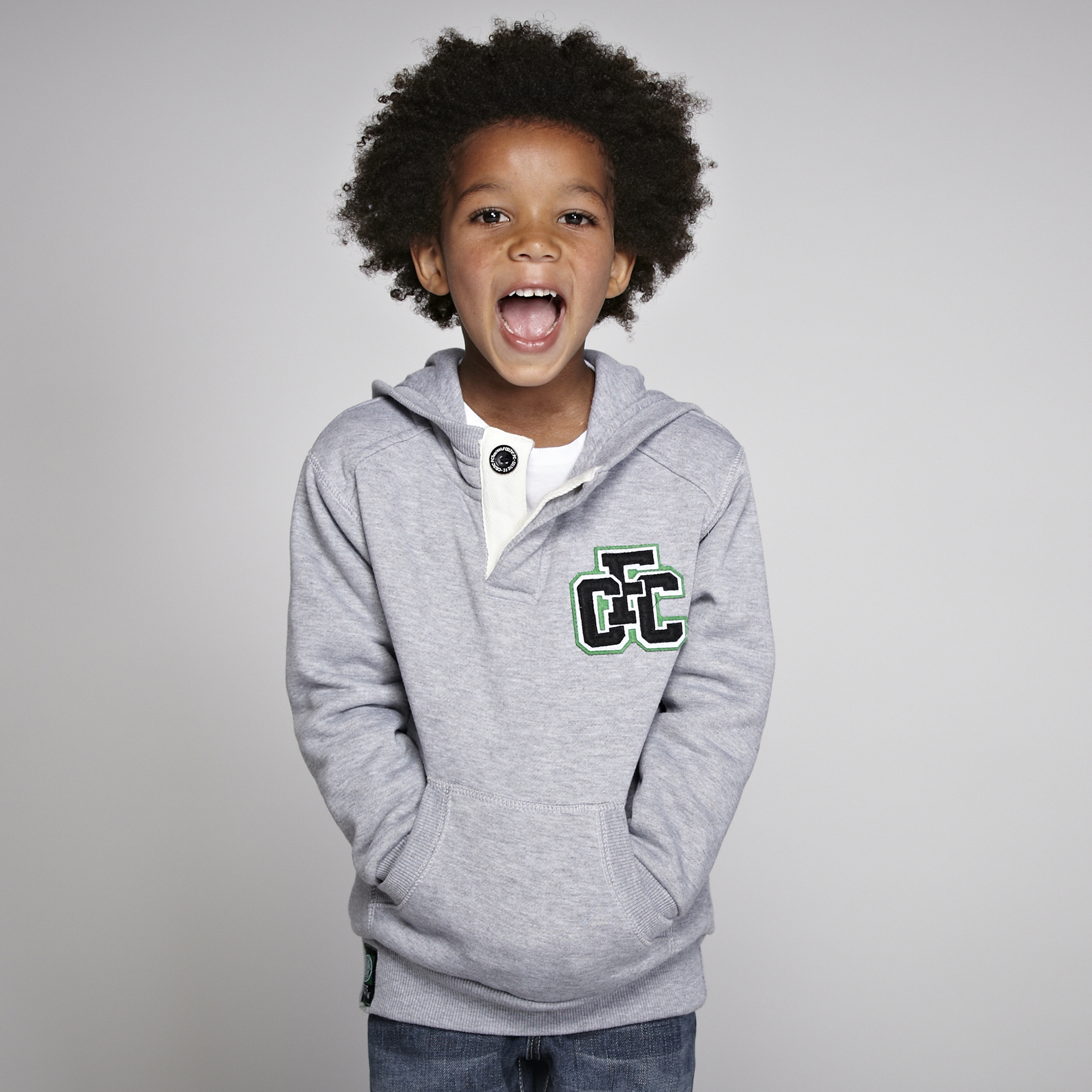 Celtic CFC Applique Hoody - Grey Marl - Boys